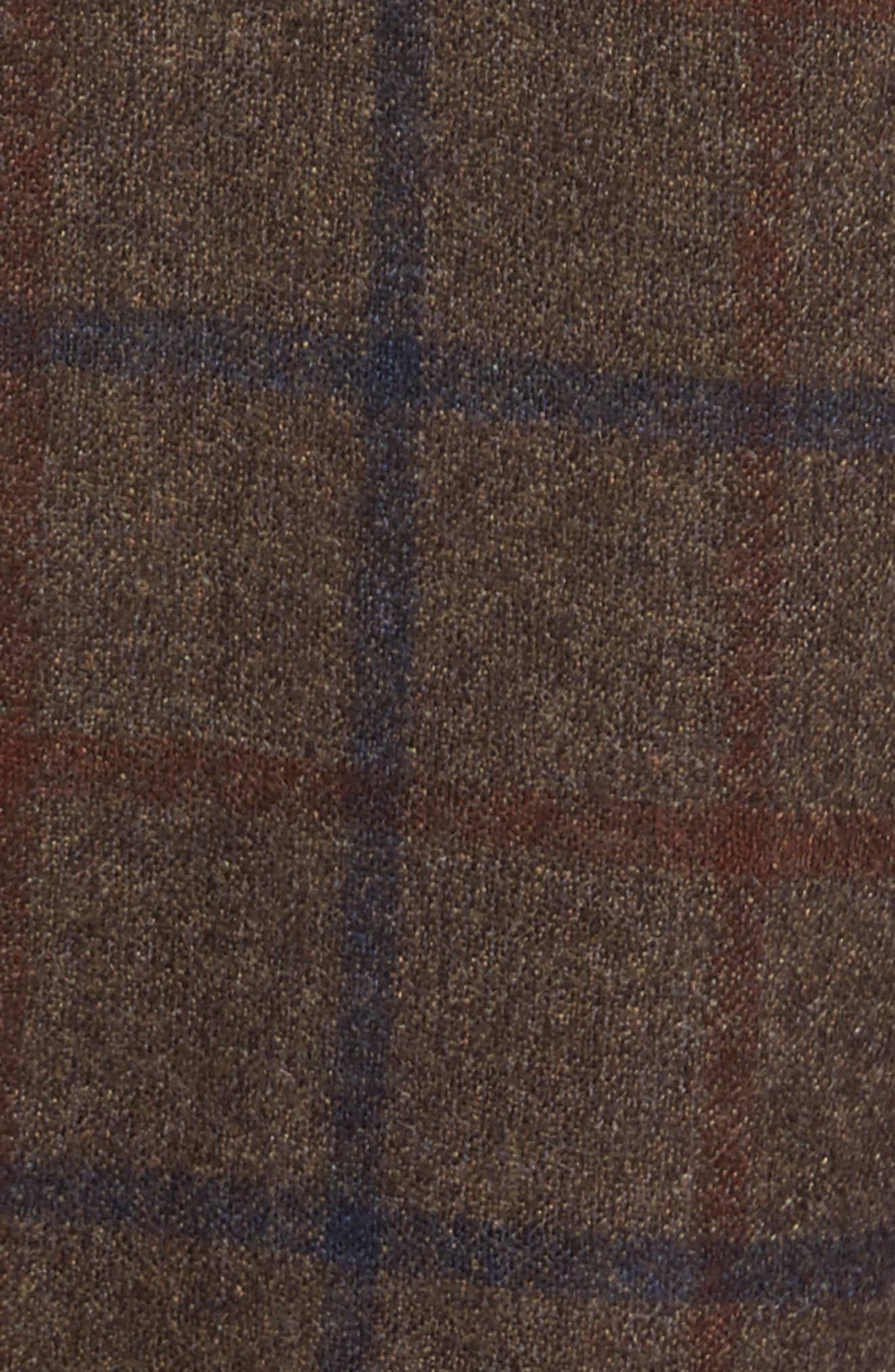 Alternate Image 5  - Berle Flat Front Windowpane Wool Trousers