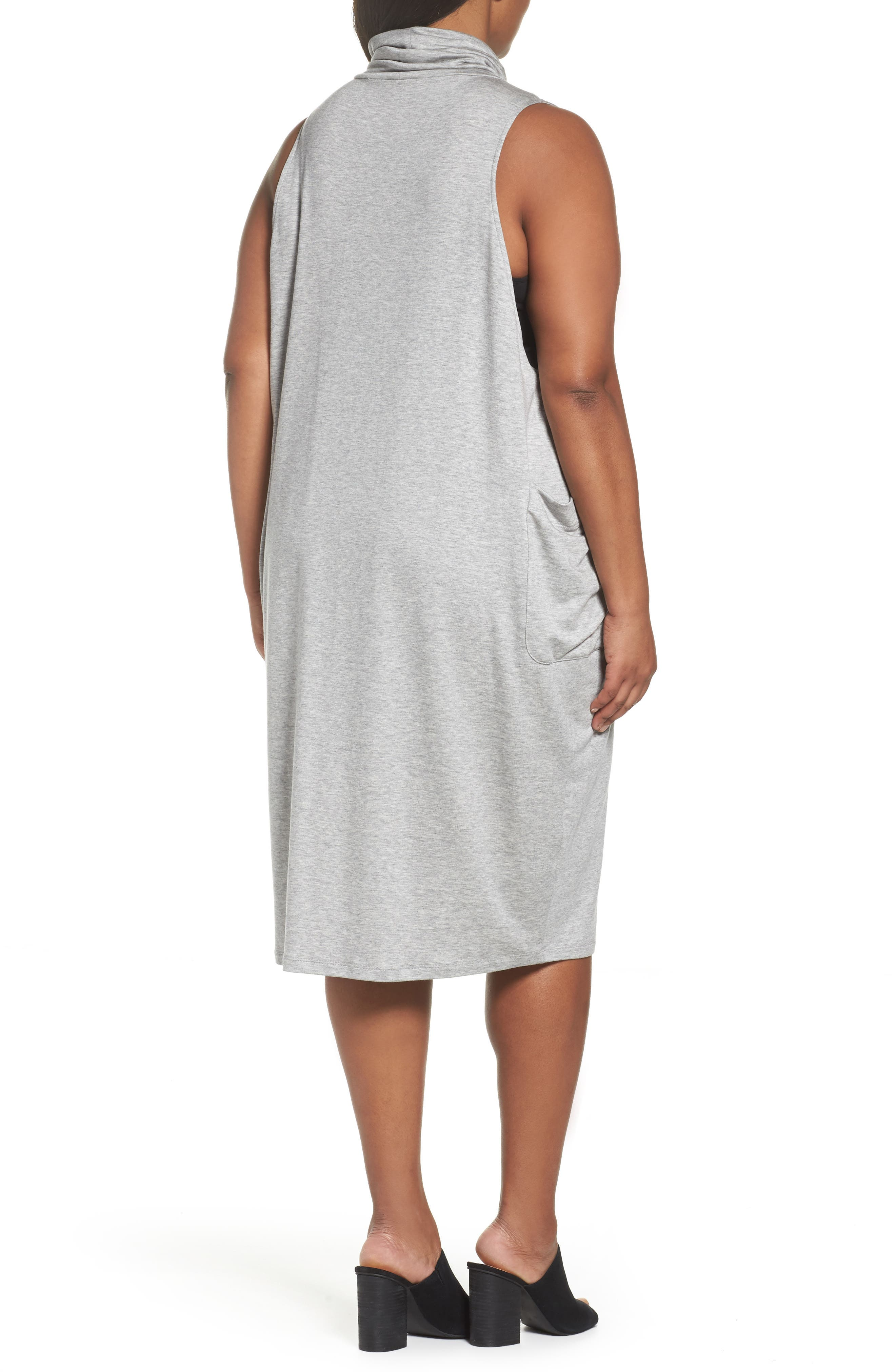 Stretch Tencel<sup>®</sup> Knit Jumper Dress,                             Alternate thumbnail 2, color,                             Grey
