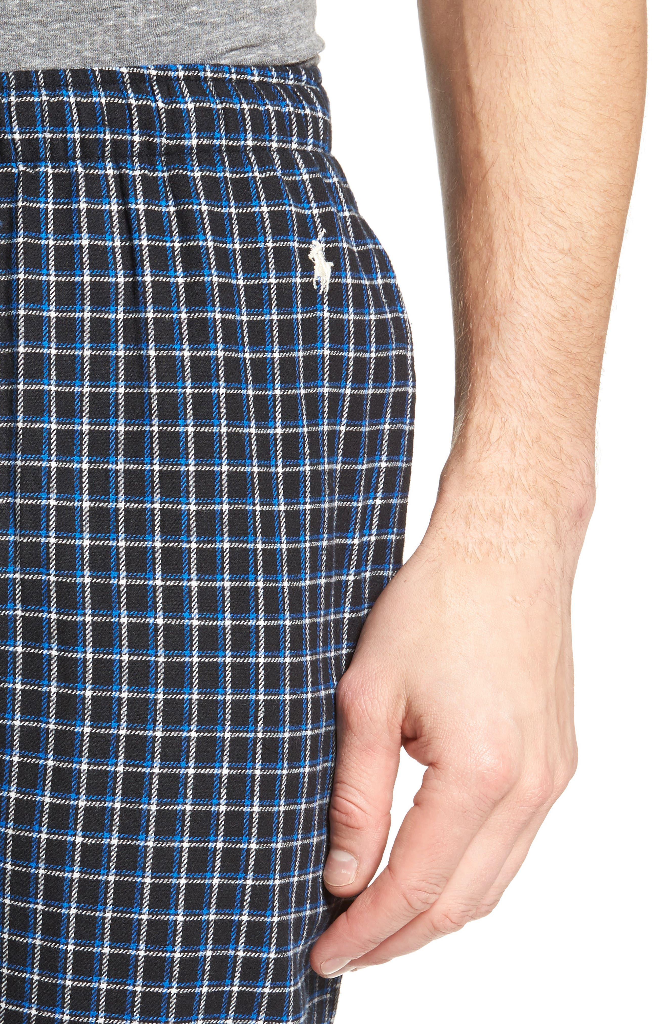 Flannel Pajama Jogger Pants,                             Alternate thumbnail 4, color,                             Logan Plaid/ Crescent Cream