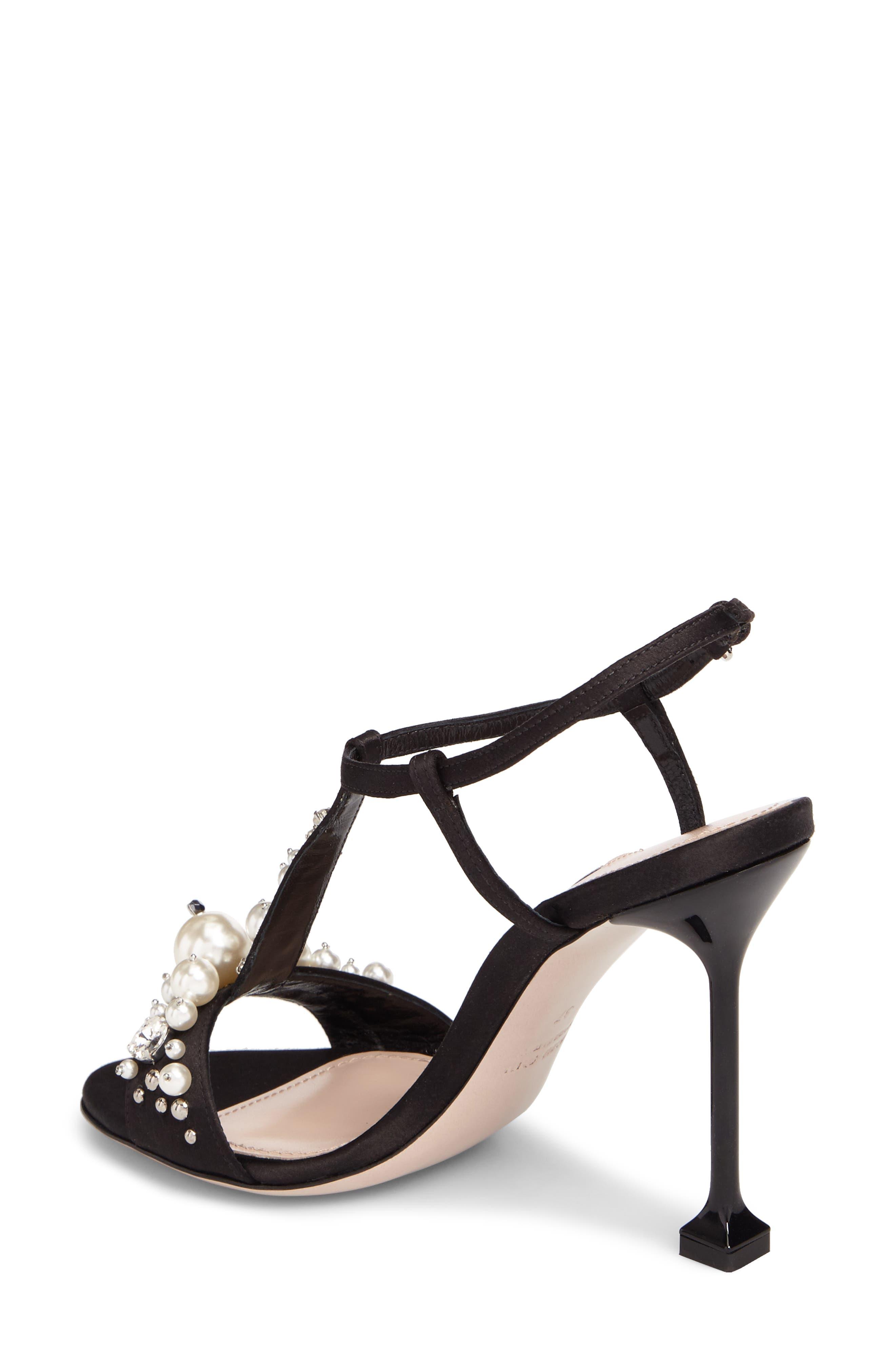Embellished T-Strap Sandal,                             Alternate thumbnail 2, color,                             Black