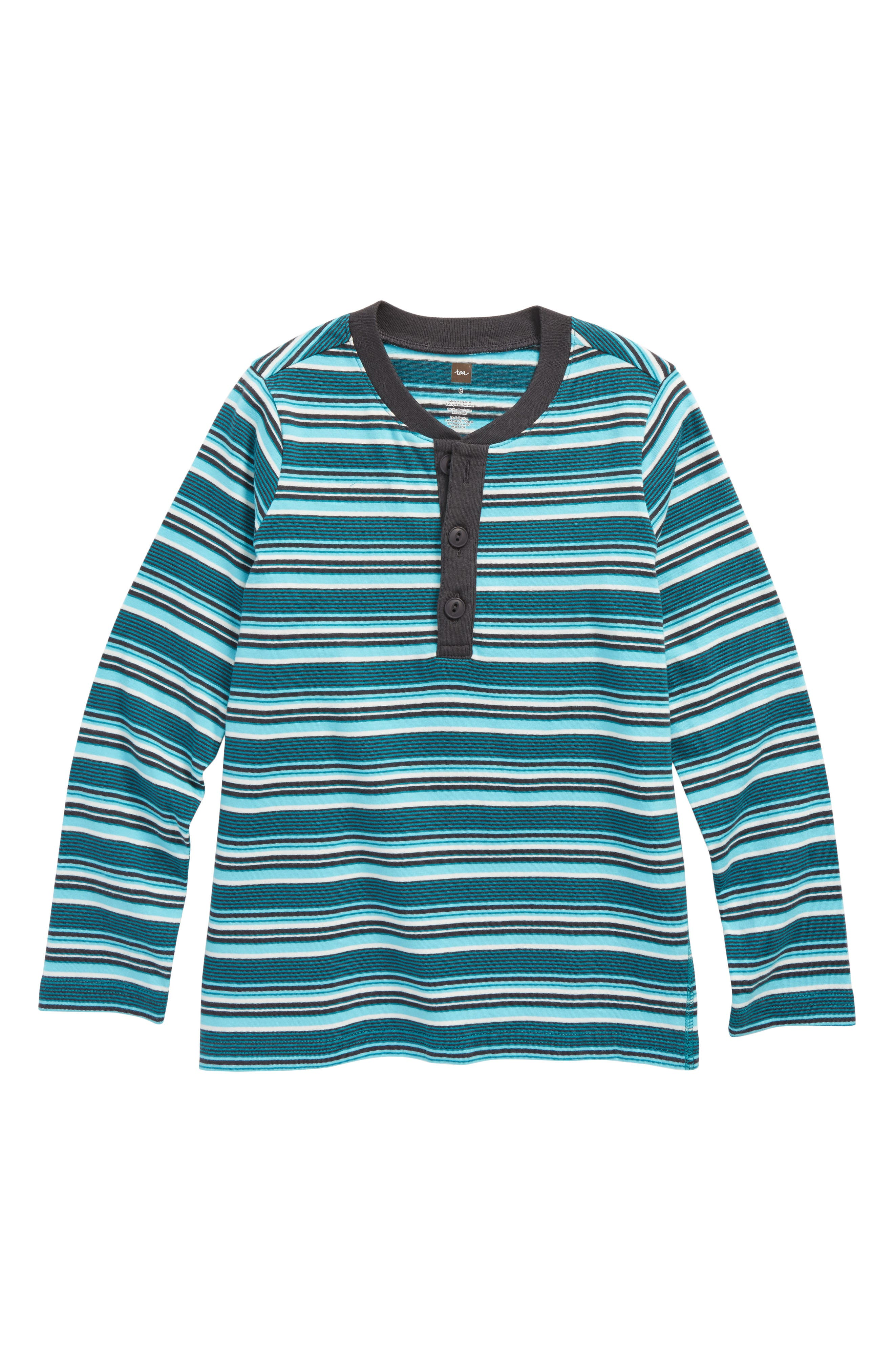 Ugie Stripe Henley T-Shirt,                         Main,                         color, Jewel Green
