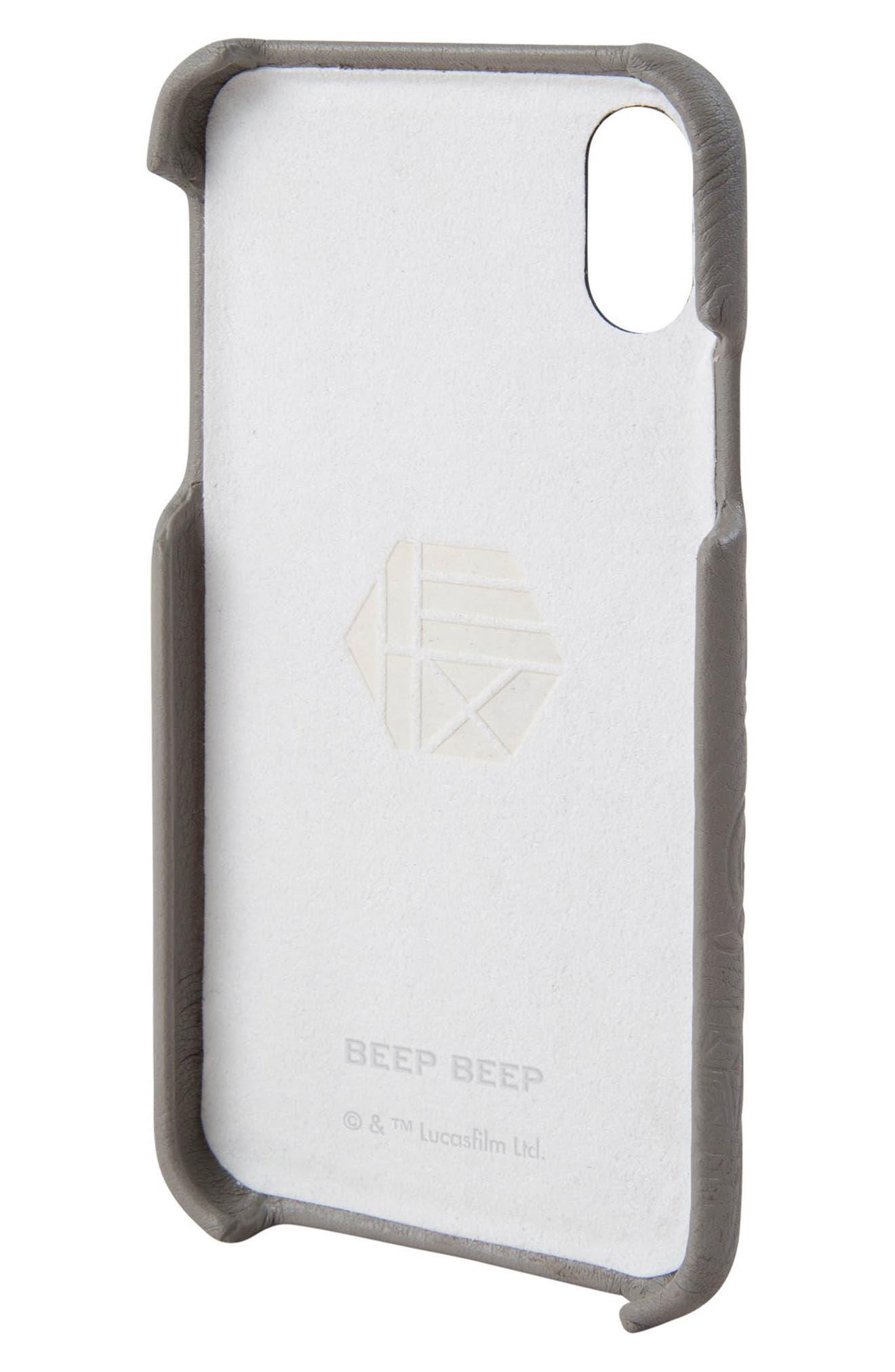 R2-D2 iPhone X Case,                             Alternate thumbnail 2, color,                             Grey
