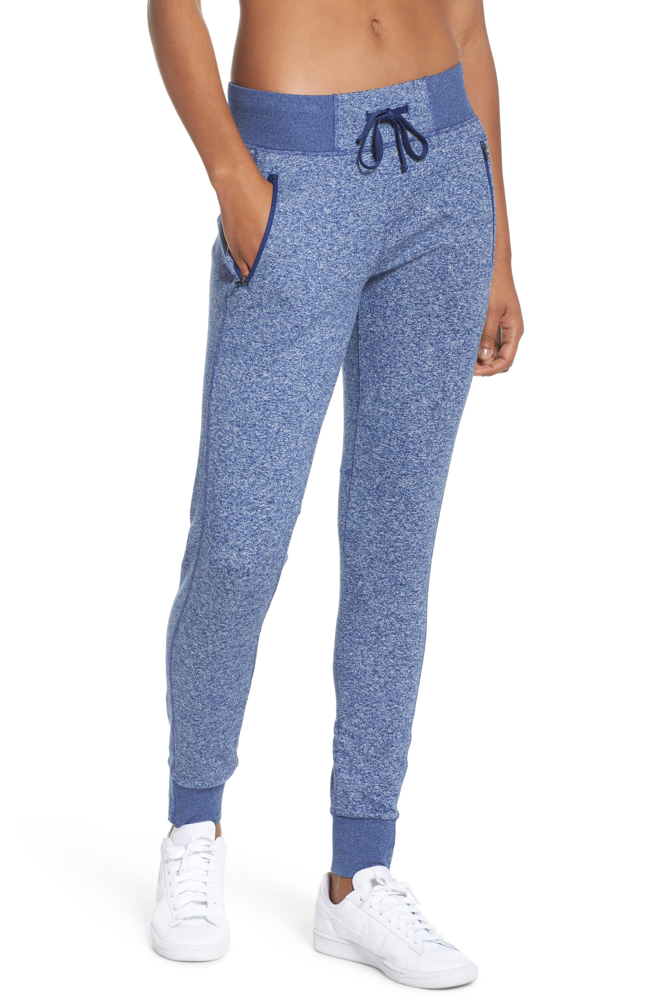 Taryn Sport Knit Pants,                         Main,                         color, Blue Depths Melange