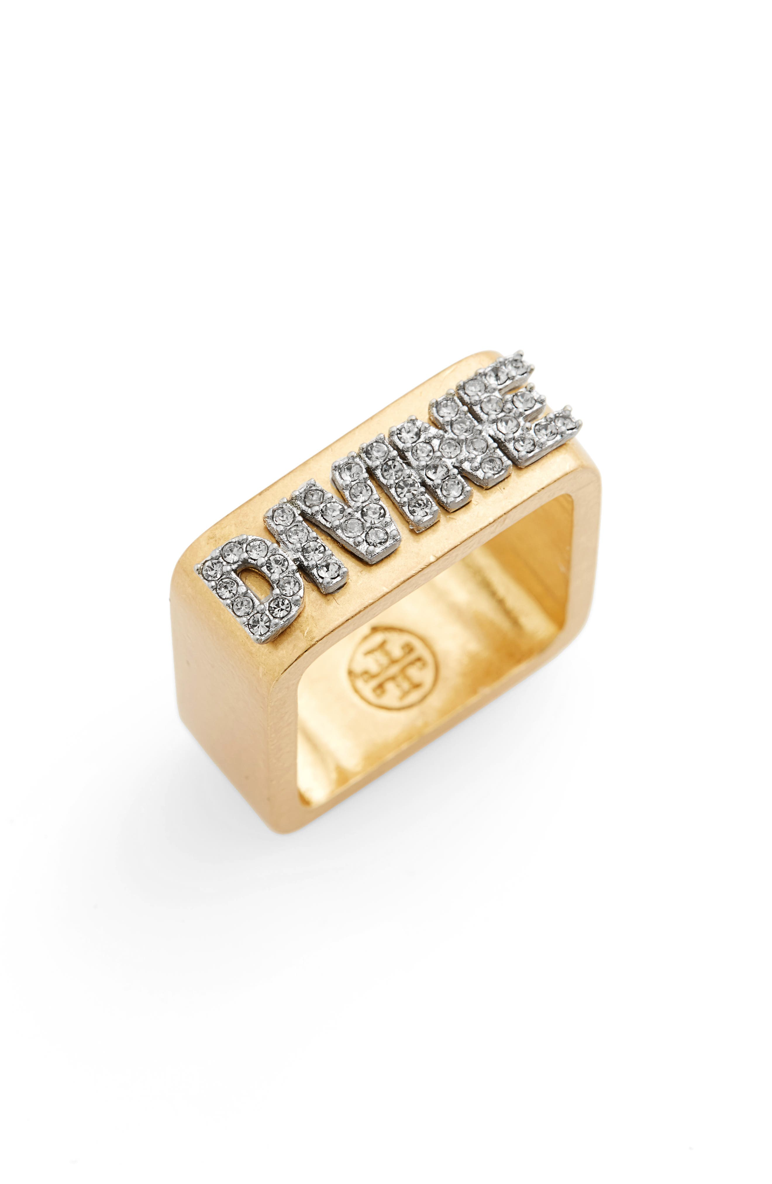 Tory Burch Divine Message Ring