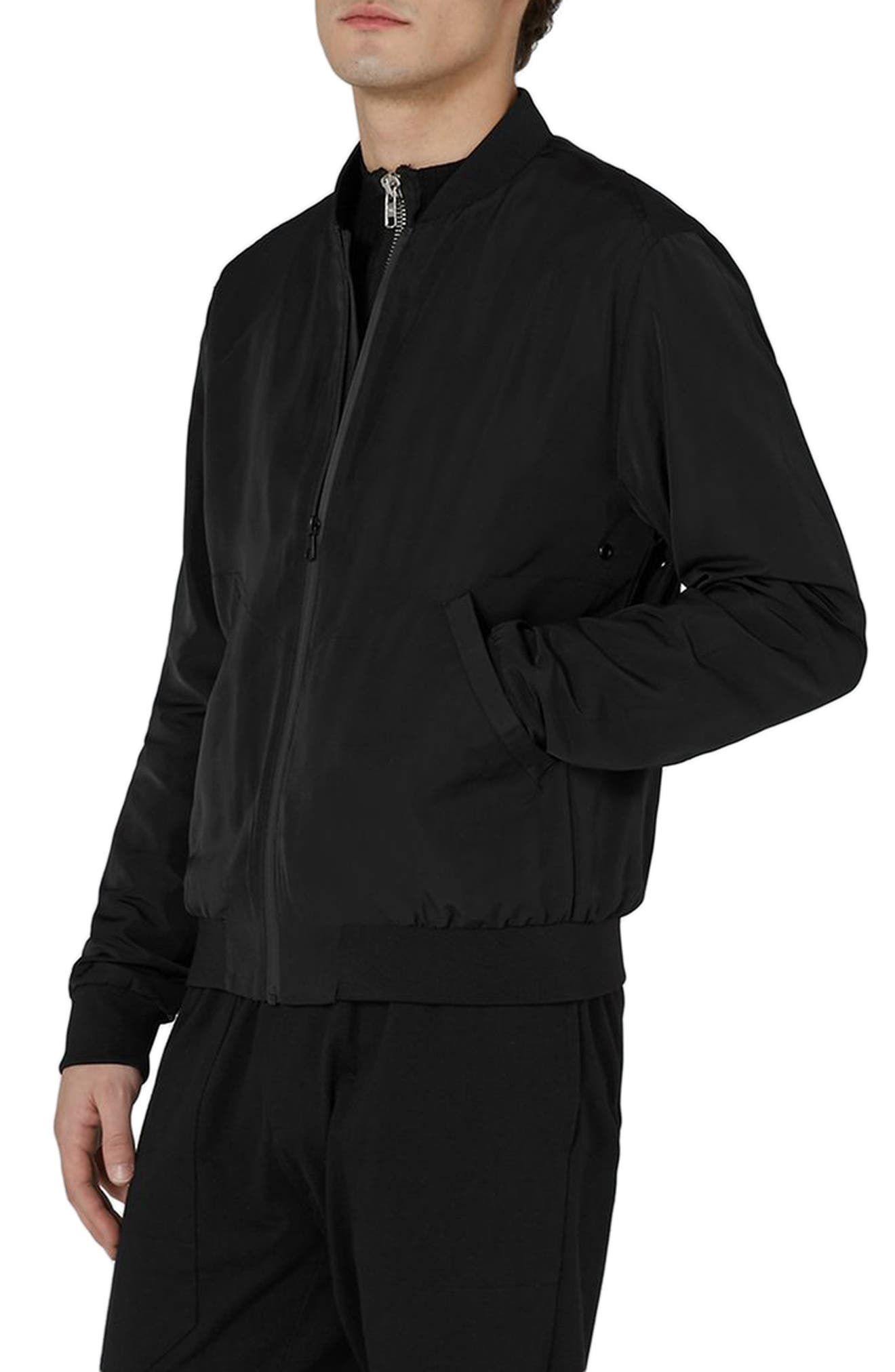 Alternate Image 1 Selected - Topman Mesh Lined Bomber Jacket