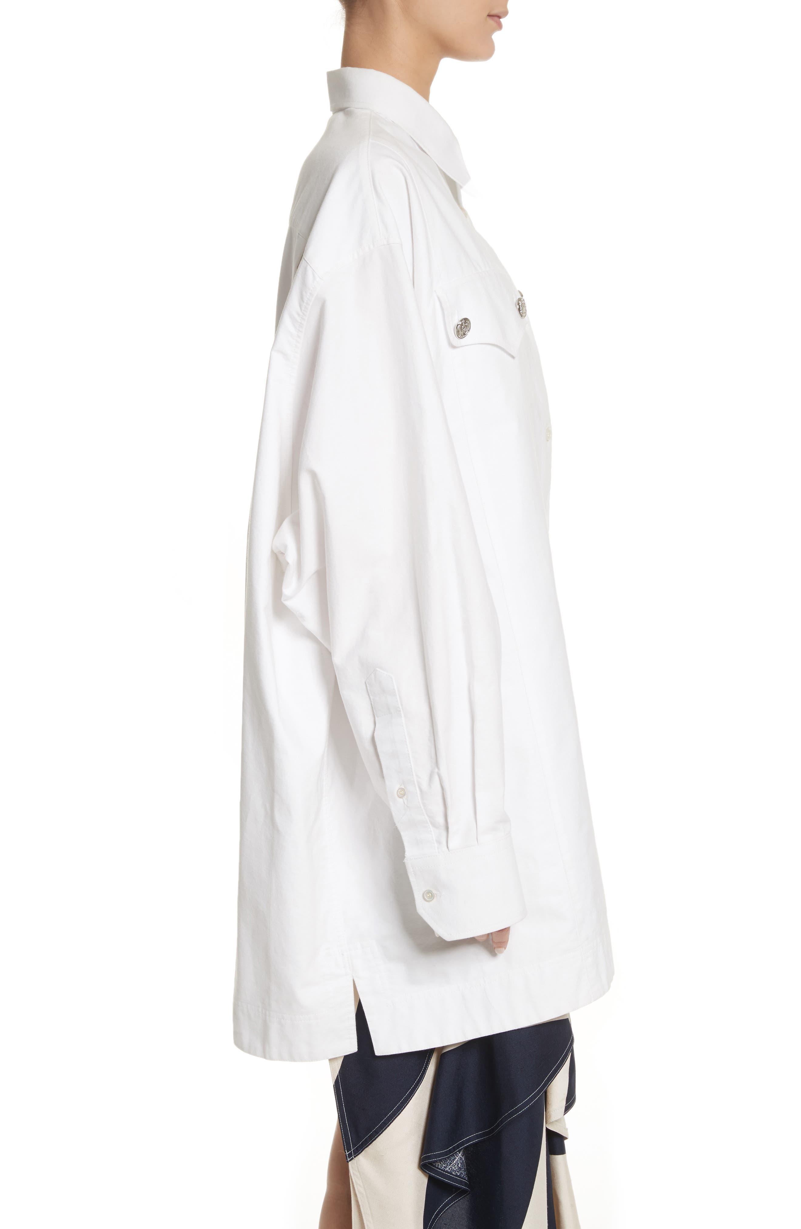 Alternate Image 3  - Calvin Klein 205W39NYC Oversize Policeman Shirt