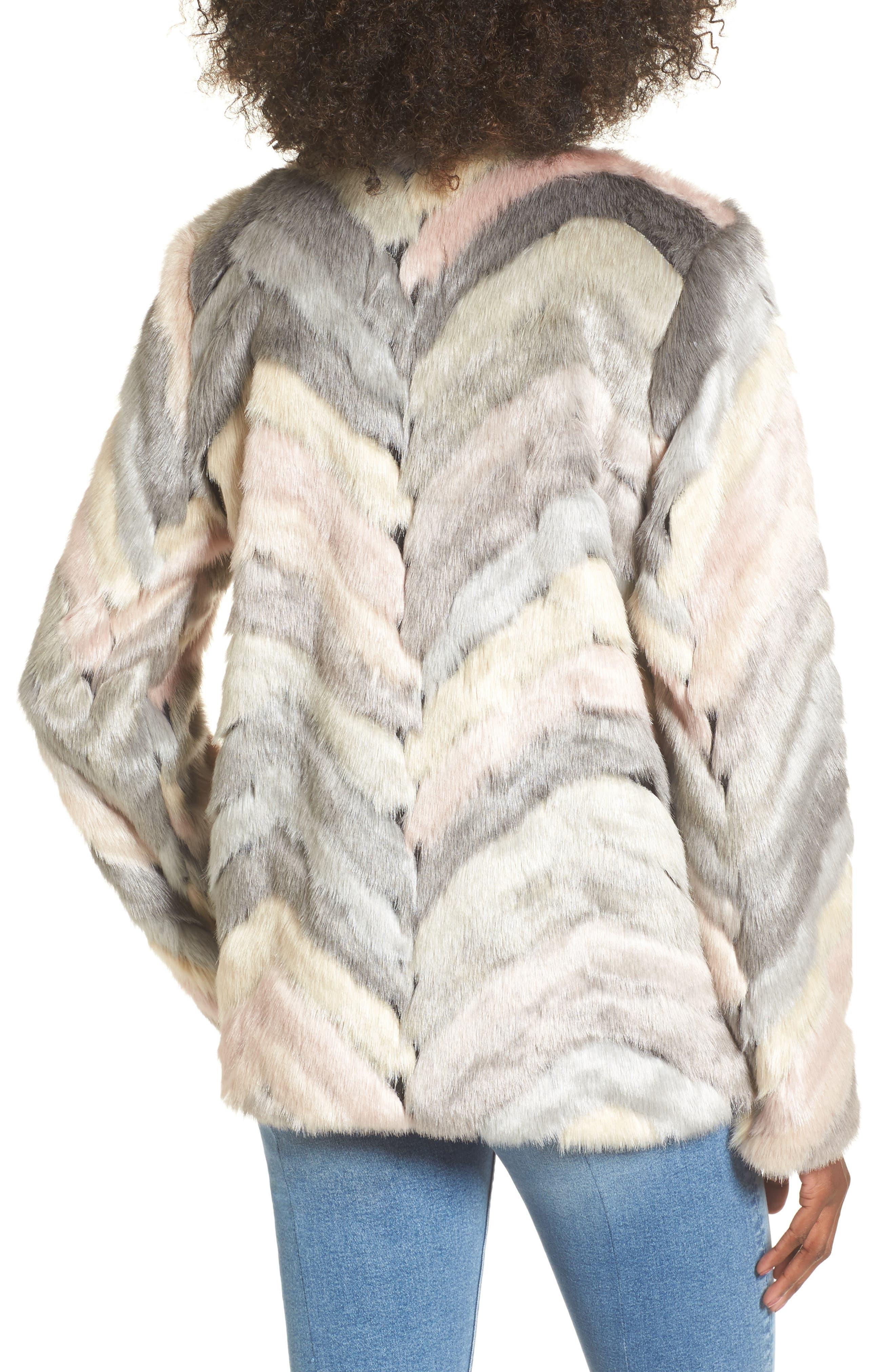 Voila Faux Fur Jacket,                             Alternate thumbnail 2, color,                             Multi