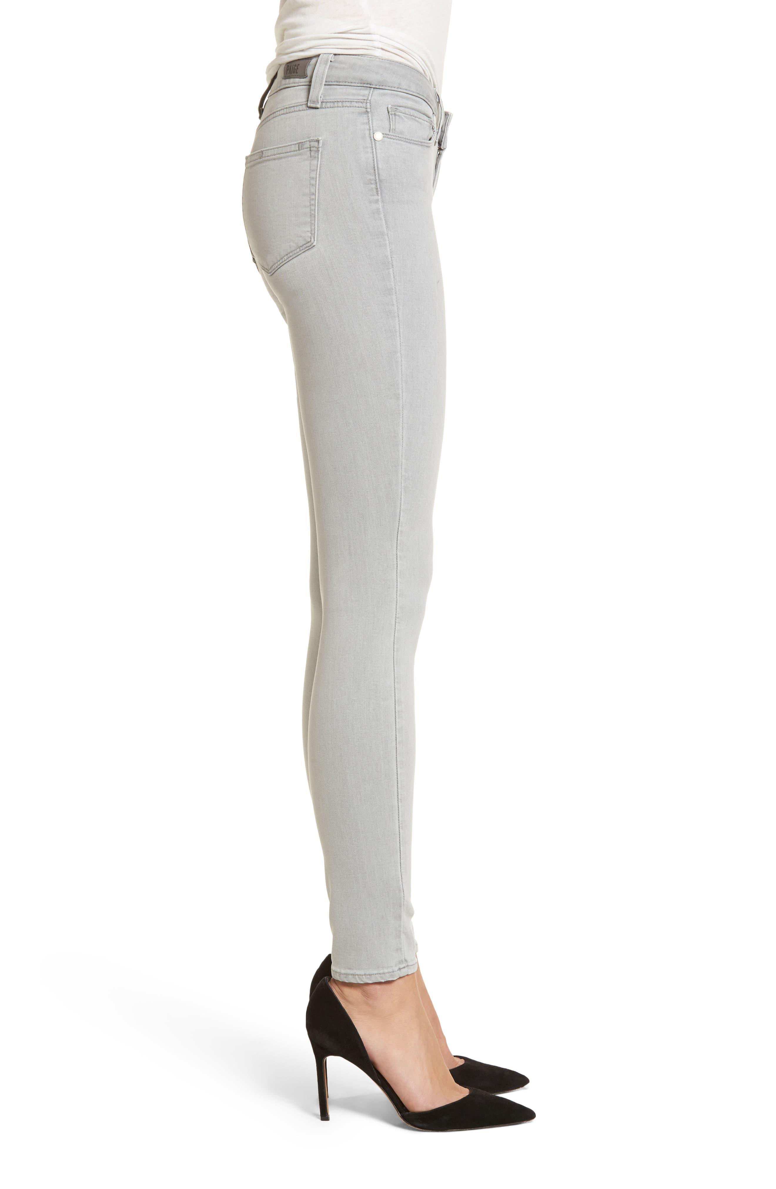 Transcend - Verdugo Ultra Skinny Jeans,                             Alternate thumbnail 3, color,                             Whisper Grey