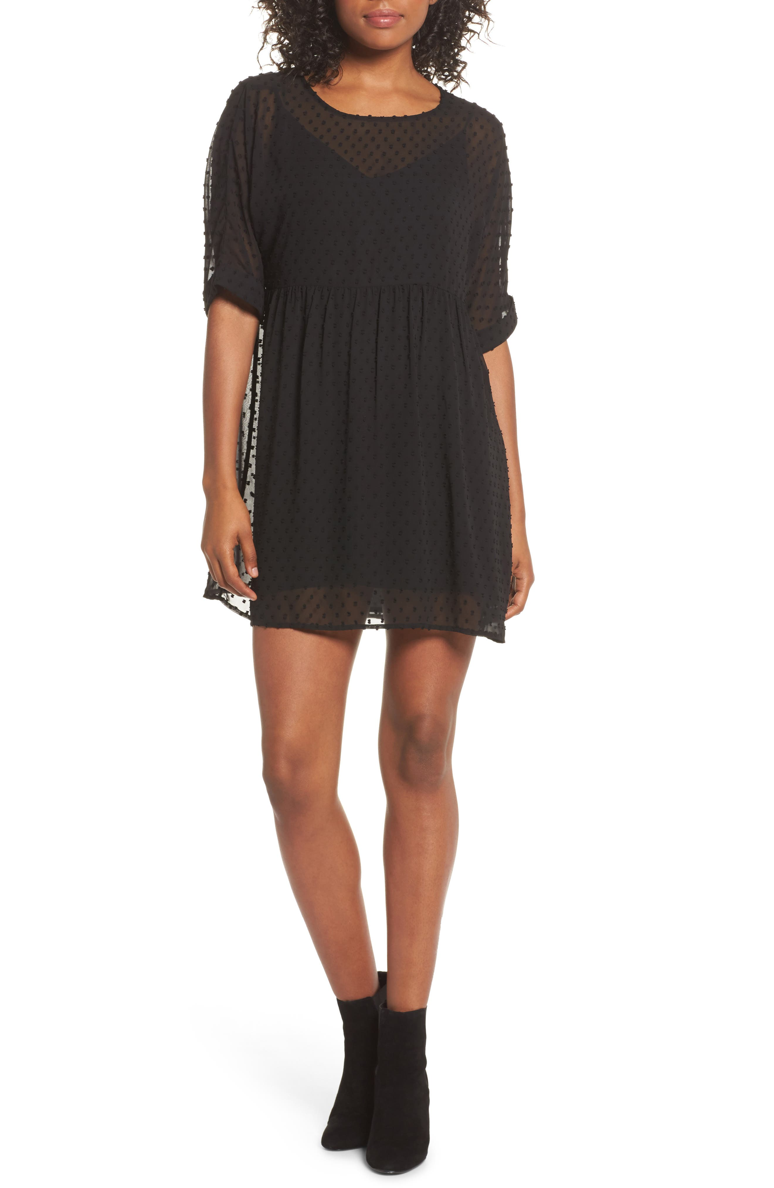 Bryden Minidress,                         Main,                         color, Black