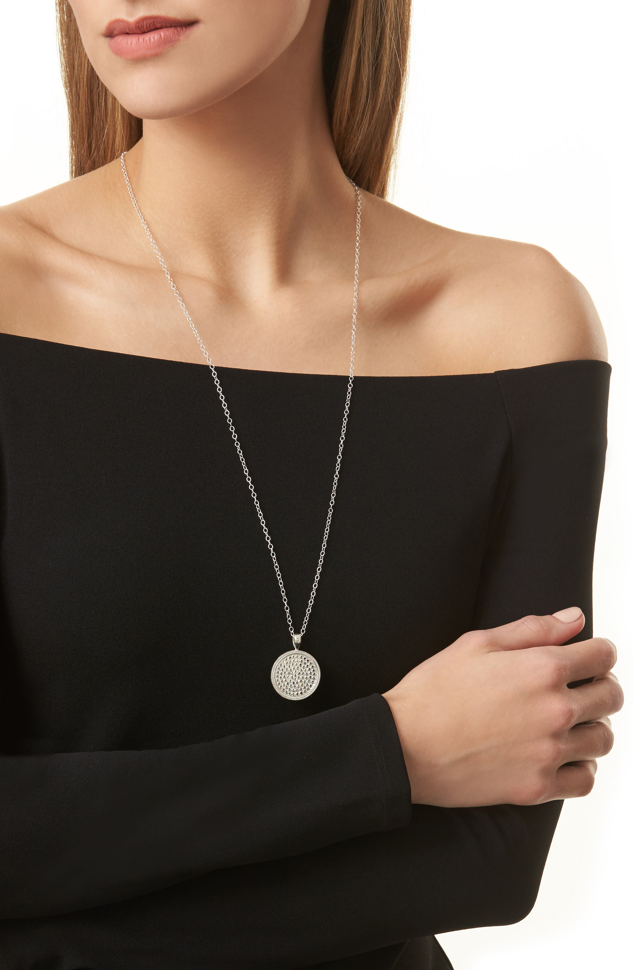 'Gili' Pendant Necklace,                             Alternate thumbnail 2, color,                             Silver