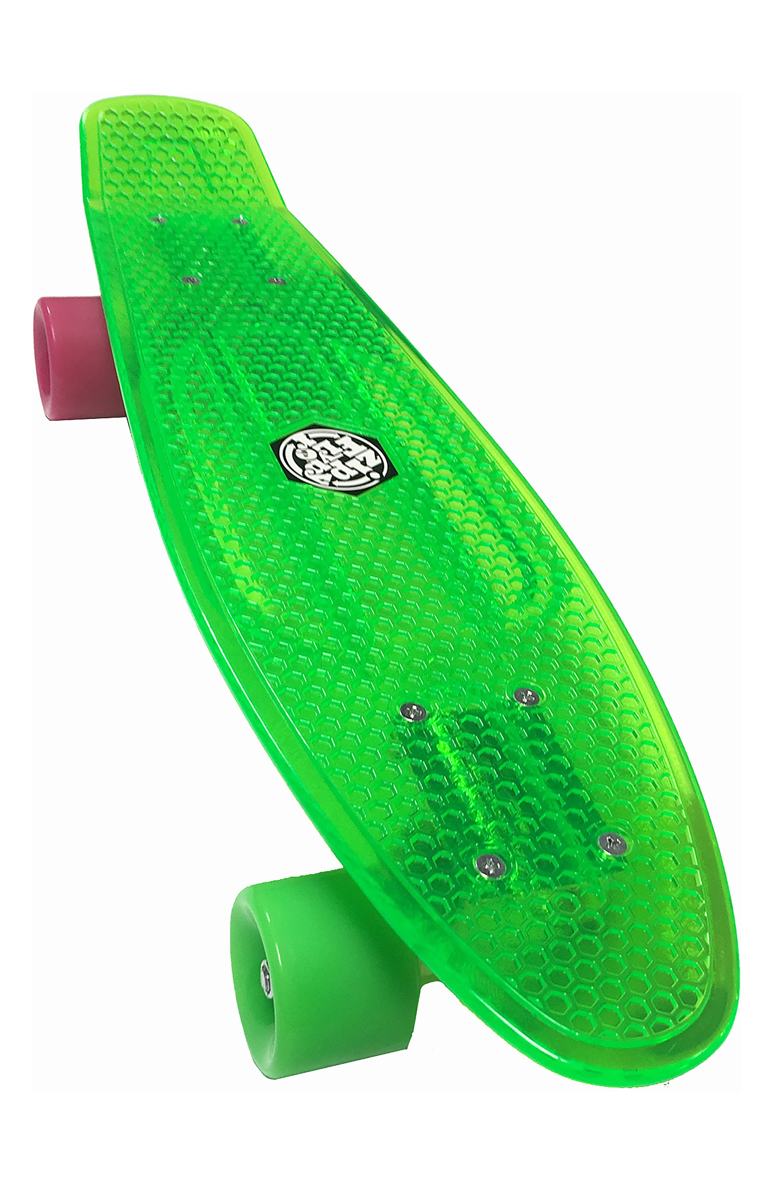 Translucent Skateboard,                             Main thumbnail 1, color,                             Green