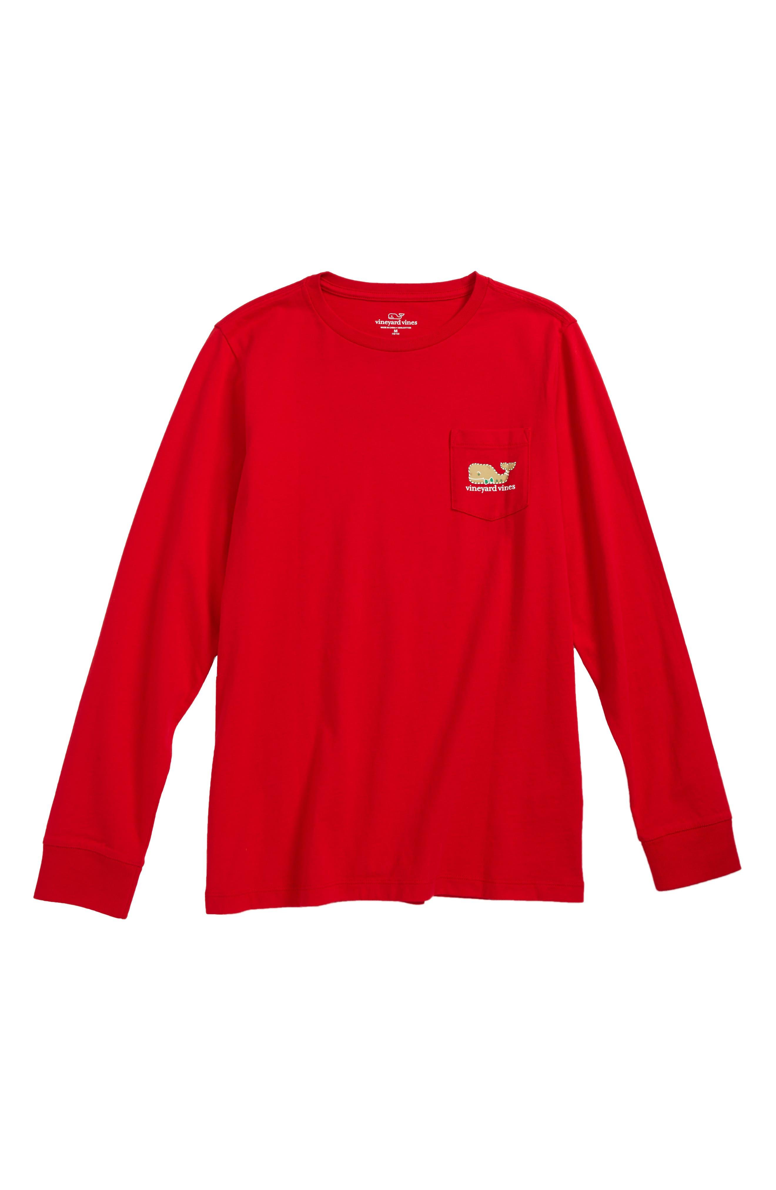 vineyard vines Gingerbread Whale Pocket T-Shirt (Big Boys)