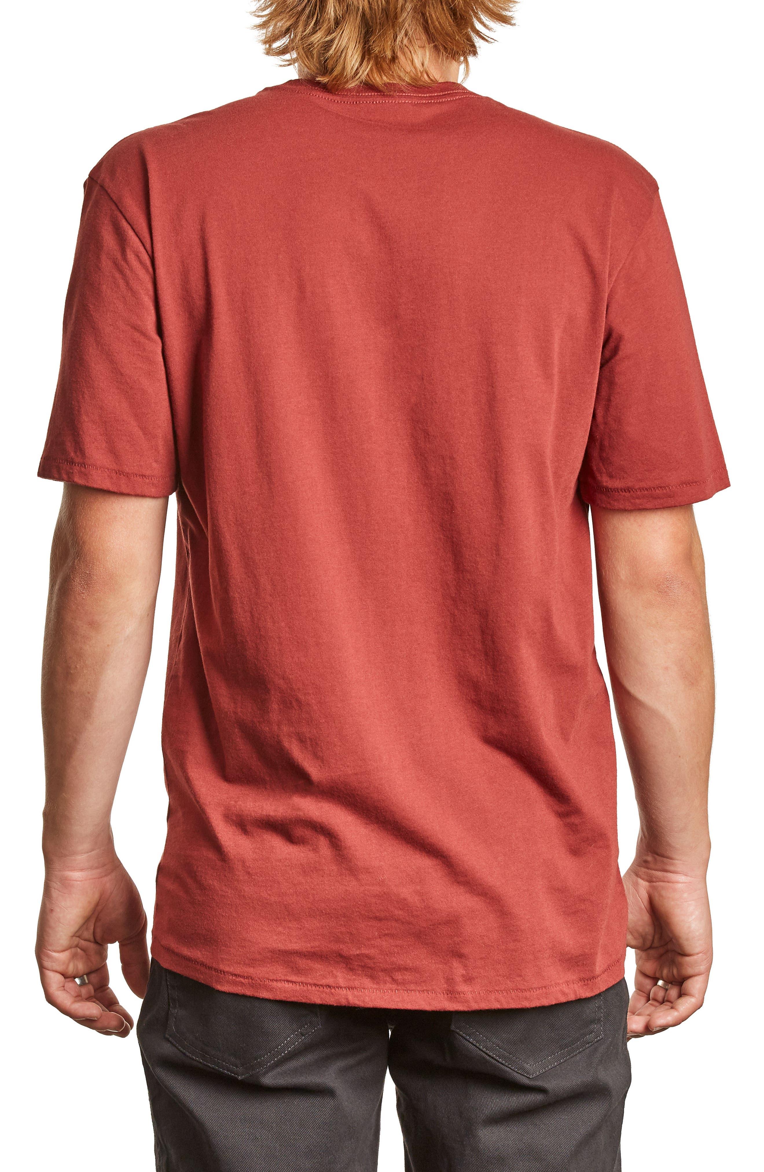 Tract Pocket T-Shirt,                             Alternate thumbnail 2, color,                             Brick