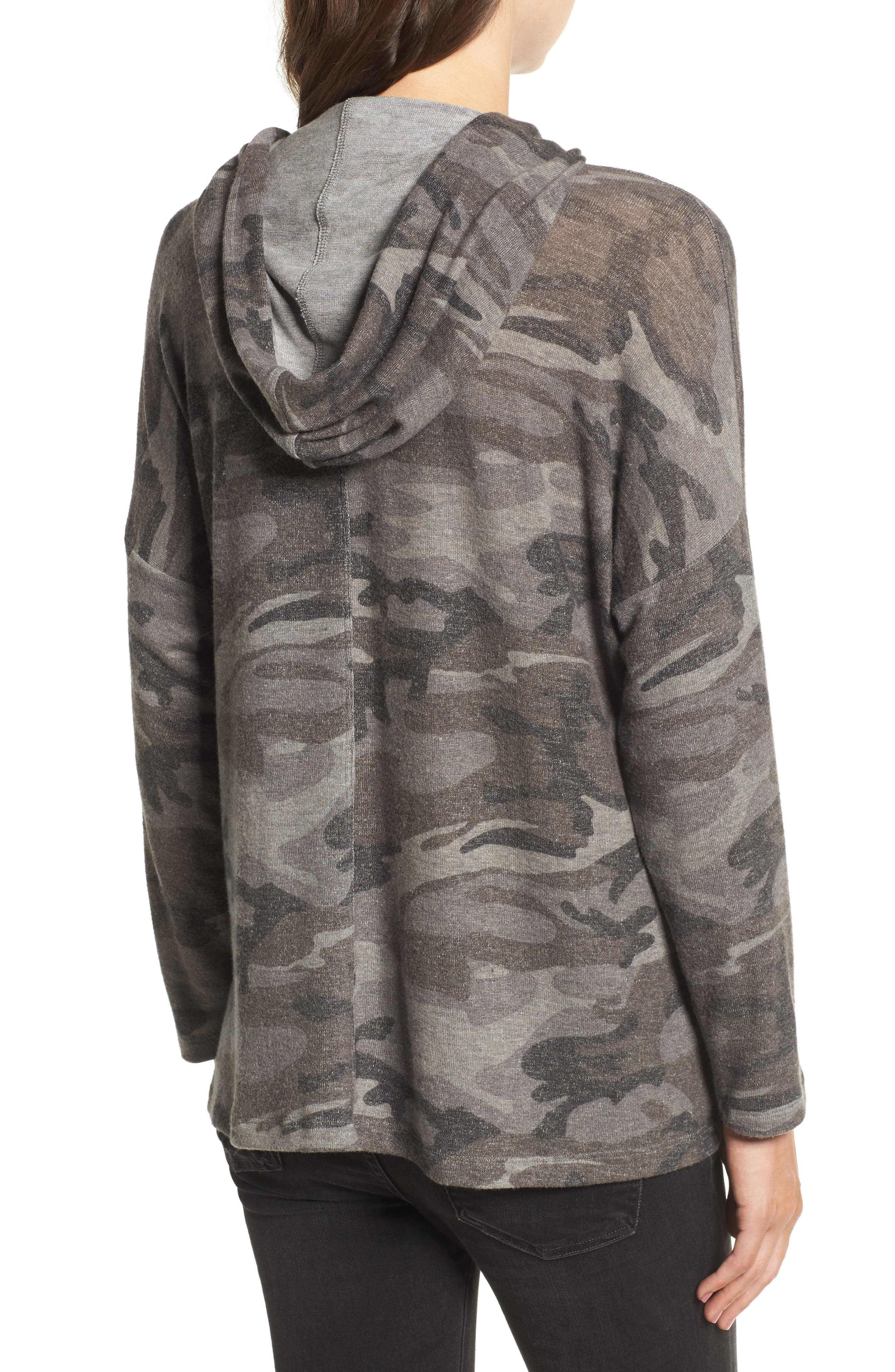 Army of Lovers Camo Hoodie,                             Alternate thumbnail 2, color,                             Charcoal Camo