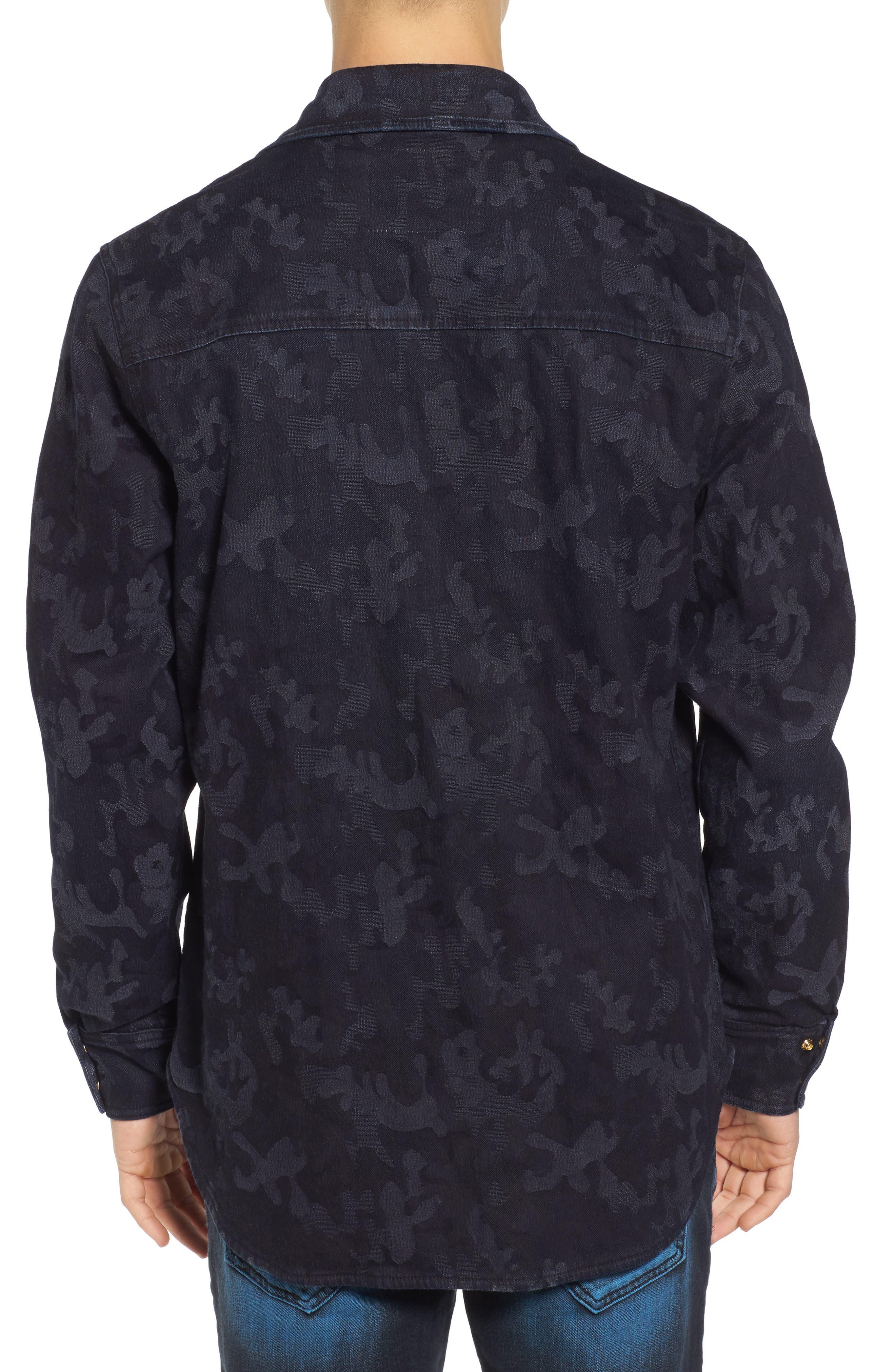 Camo Field Jacket,                             Alternate thumbnail 2, color,                             Indigo Camo