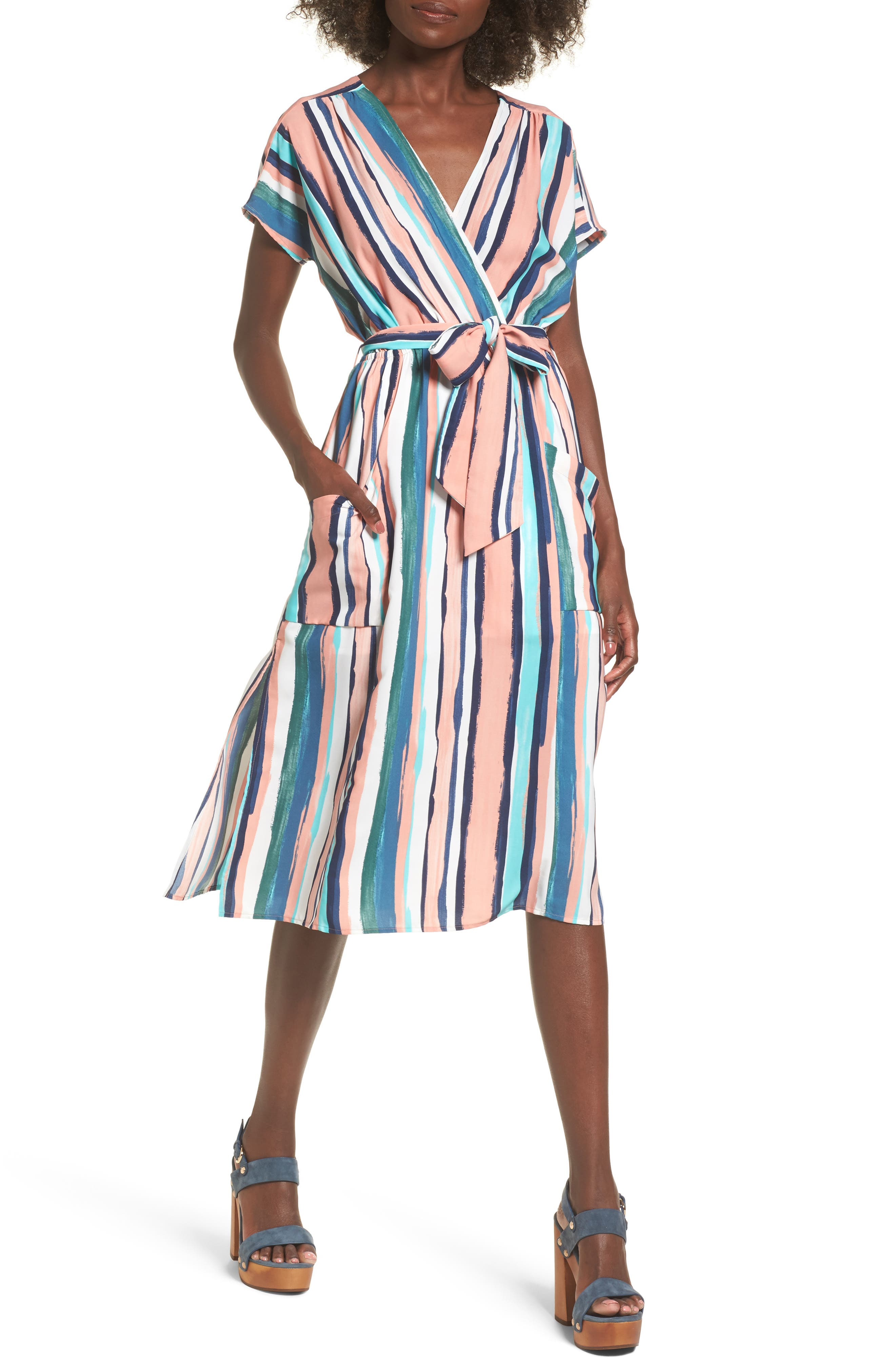 Lost + Wander Santorini Faux Wrap Dress