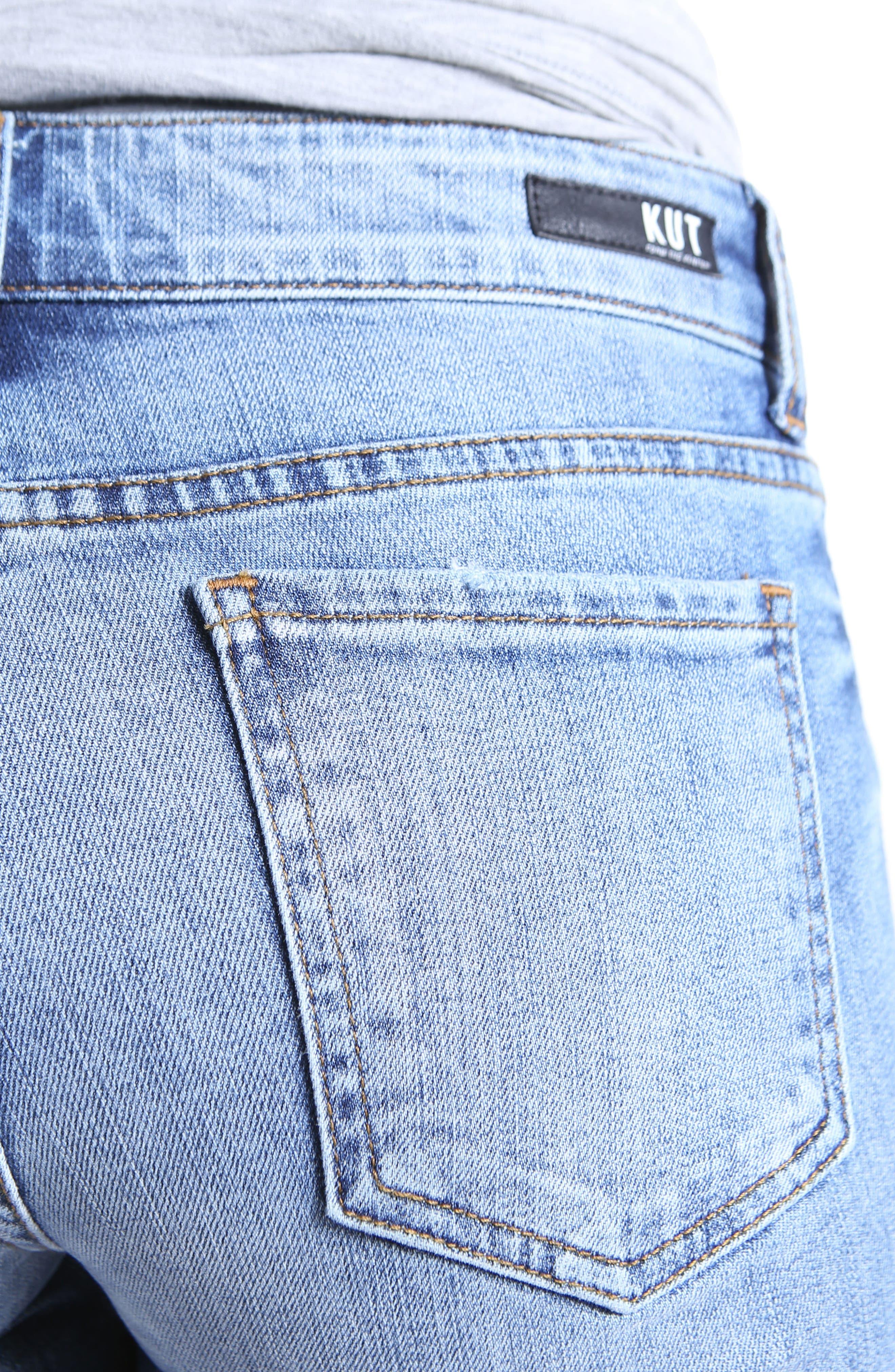 Catherine Ripped Denim Boyfriend Shorts,                             Alternate thumbnail 4, color,                             Organized