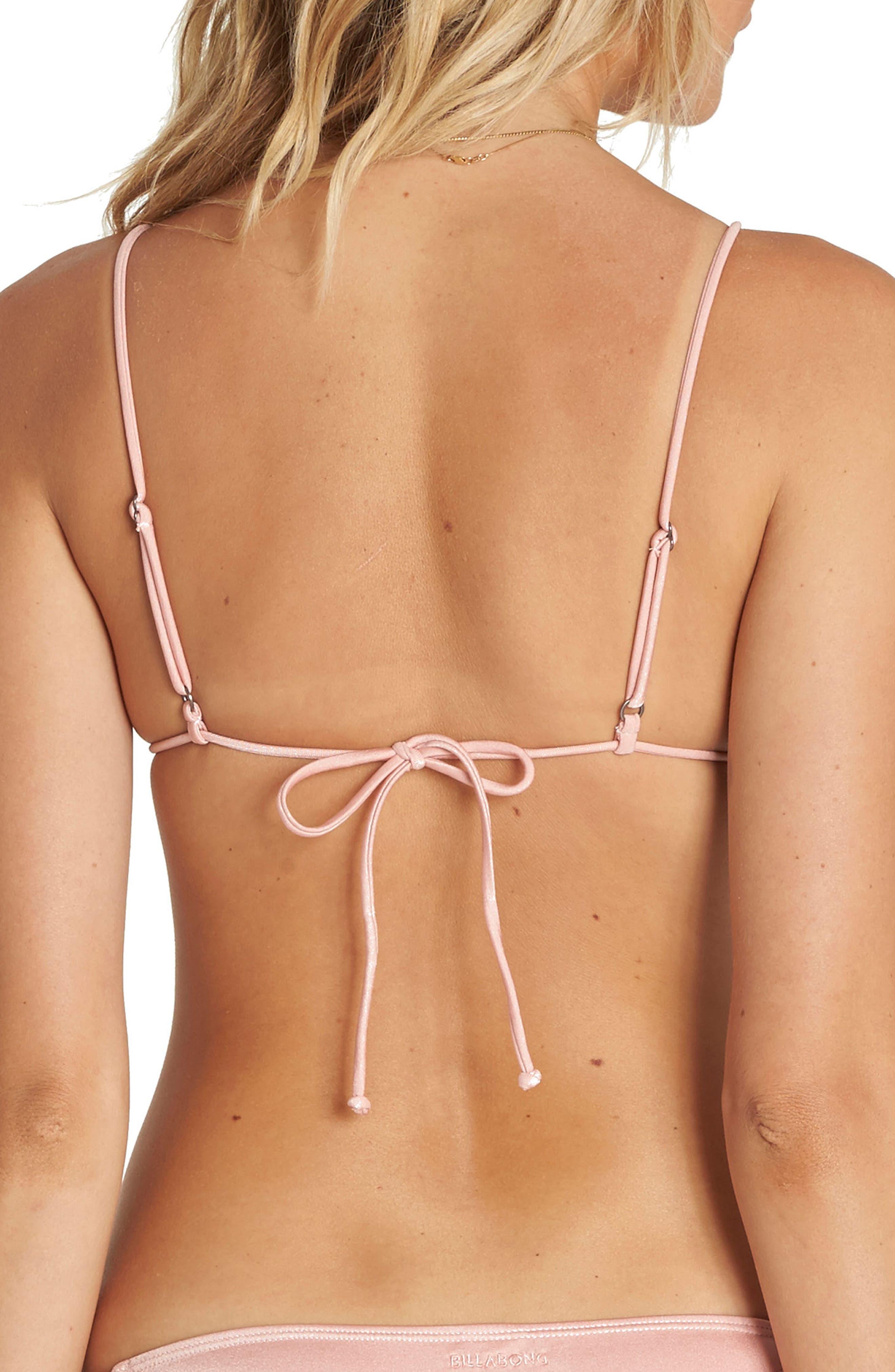 Sol Searcher Tiny Tri Bikini Top,                             Alternate thumbnail 2, color,                             Blush