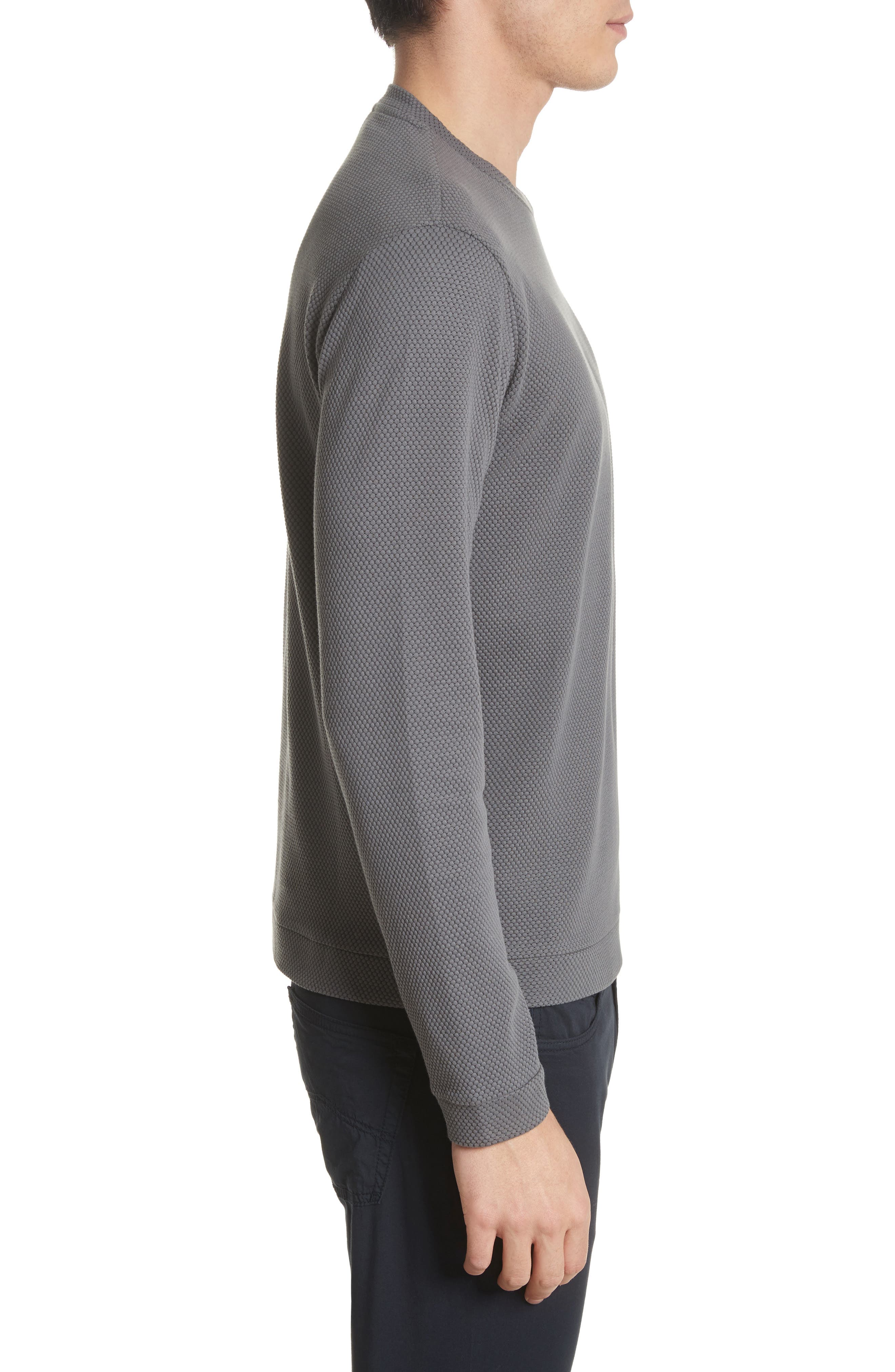 Alternate Image 3  - Emporio Armani Honeycomb Jacquard Slim Fit T-Shirt