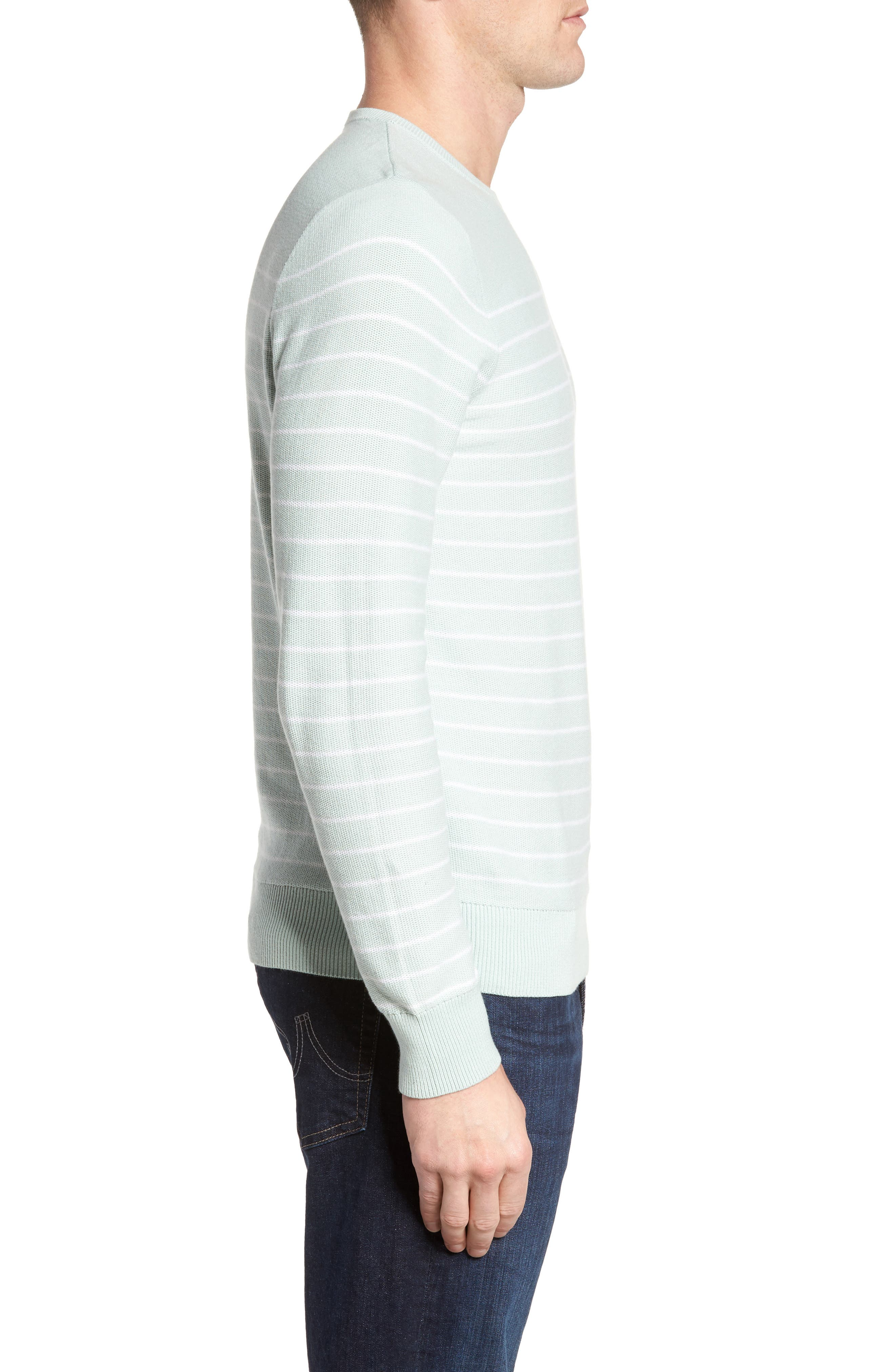 Alternate Image 3  - Nordstrom Men's Shop Stripe Cotton Sweater
