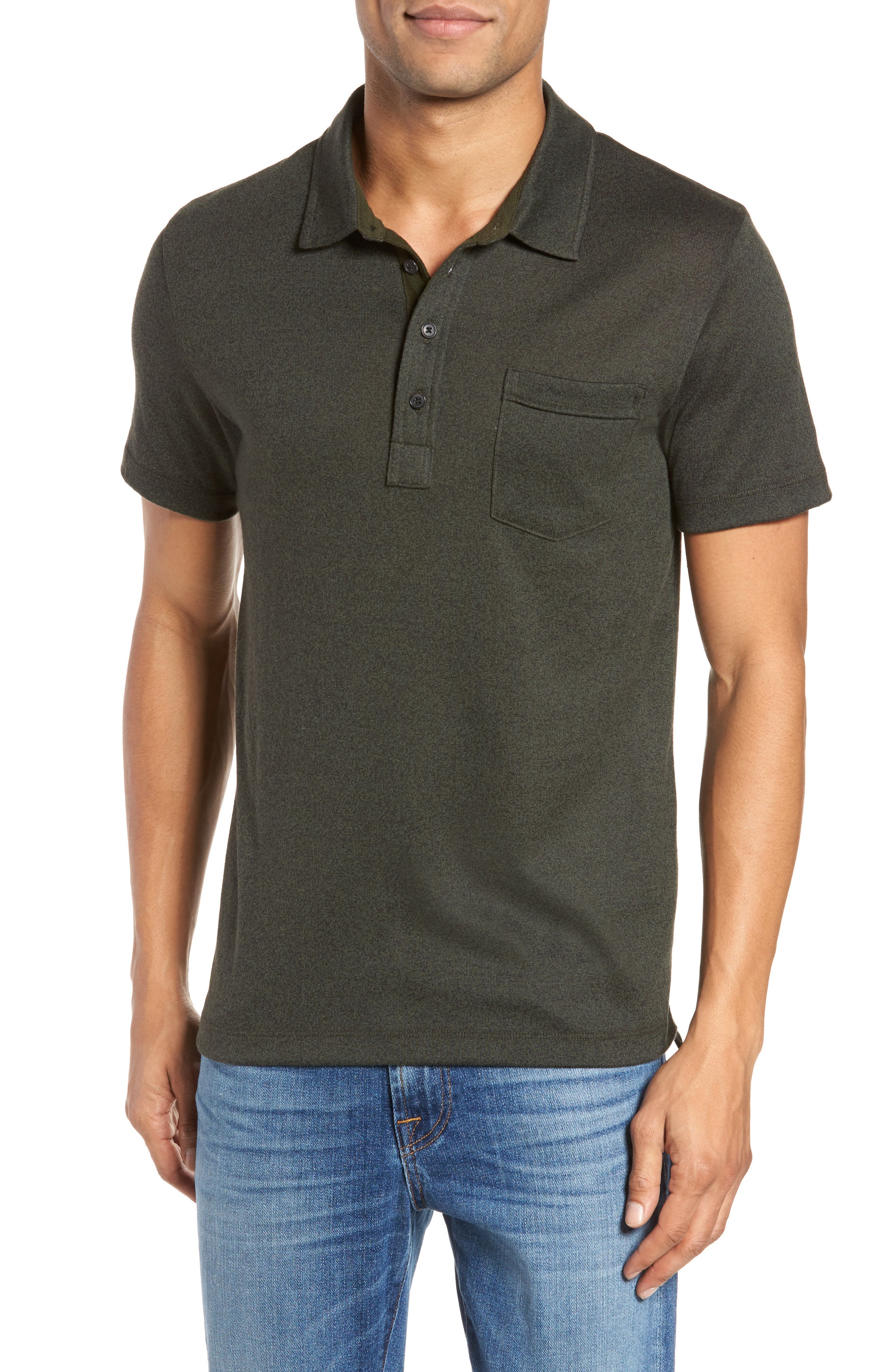 Smith Slim Fit Polo,                         Main,                         color, Pine Green