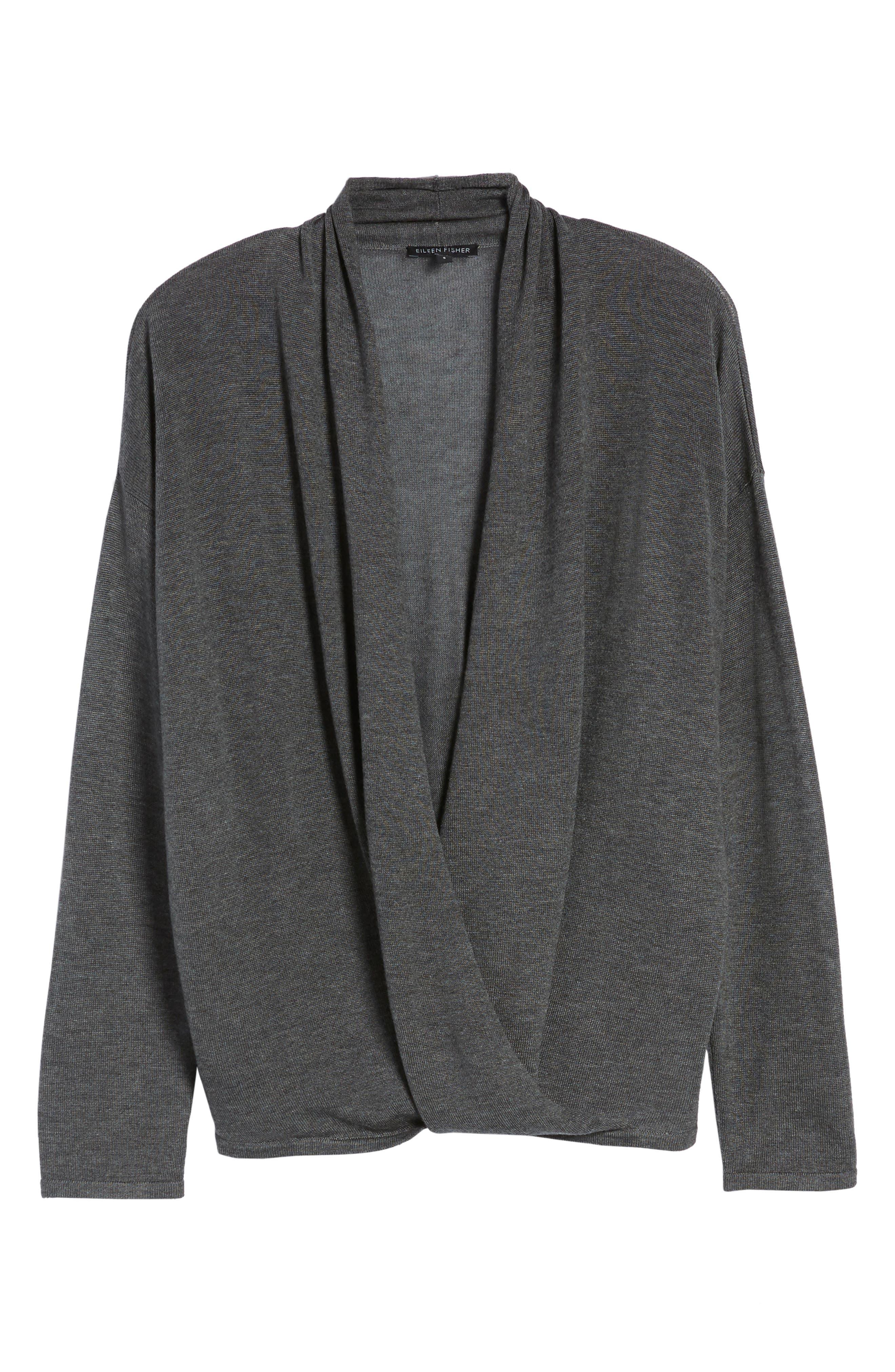 Alternate Image 6  - Eileen Fisher Faux Wrap Tencel® & Merino Wool Sweater