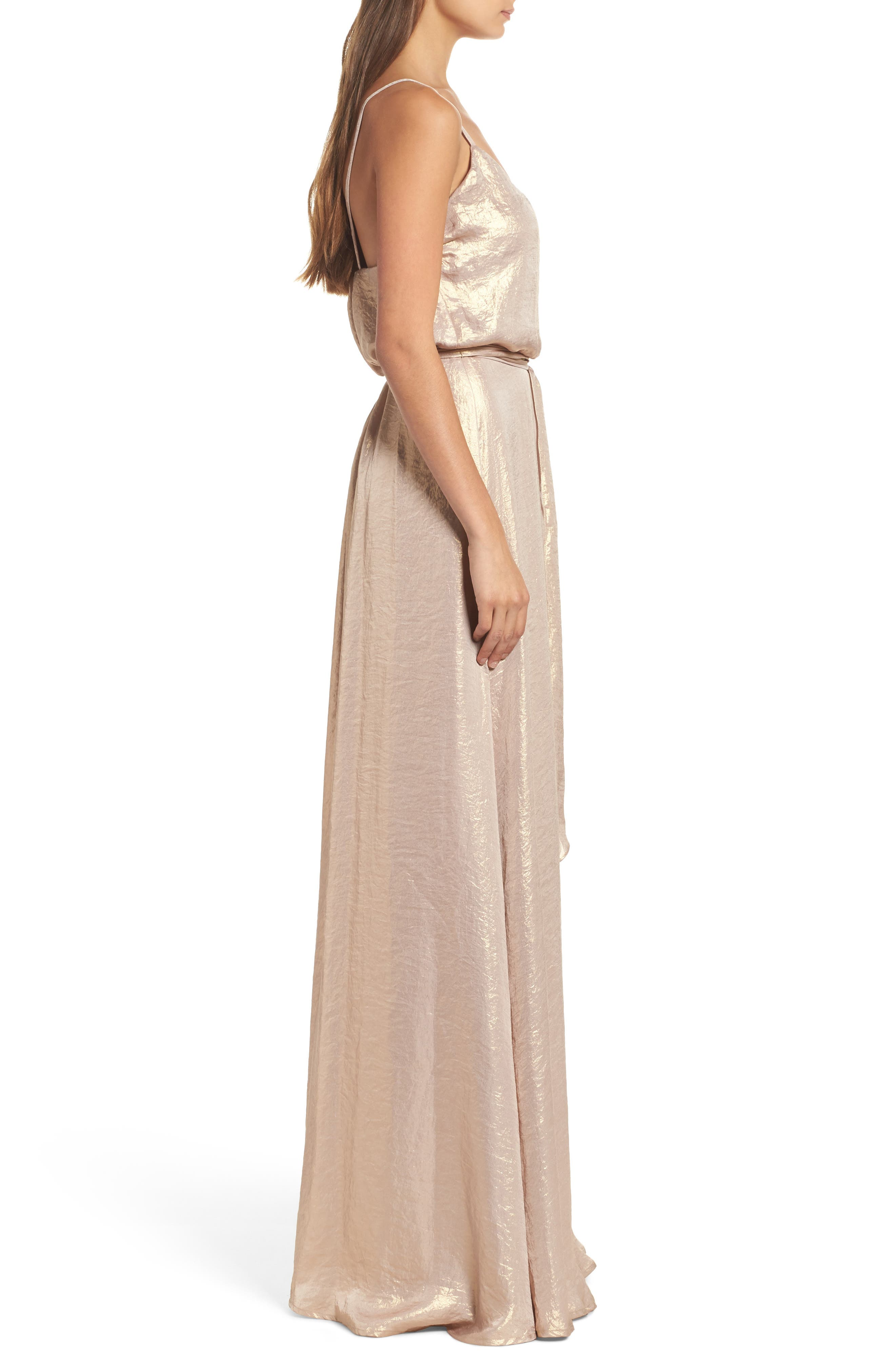 Alternate Image 2  - nouvelle AMSALE Crushed Satin Blouson Gown
