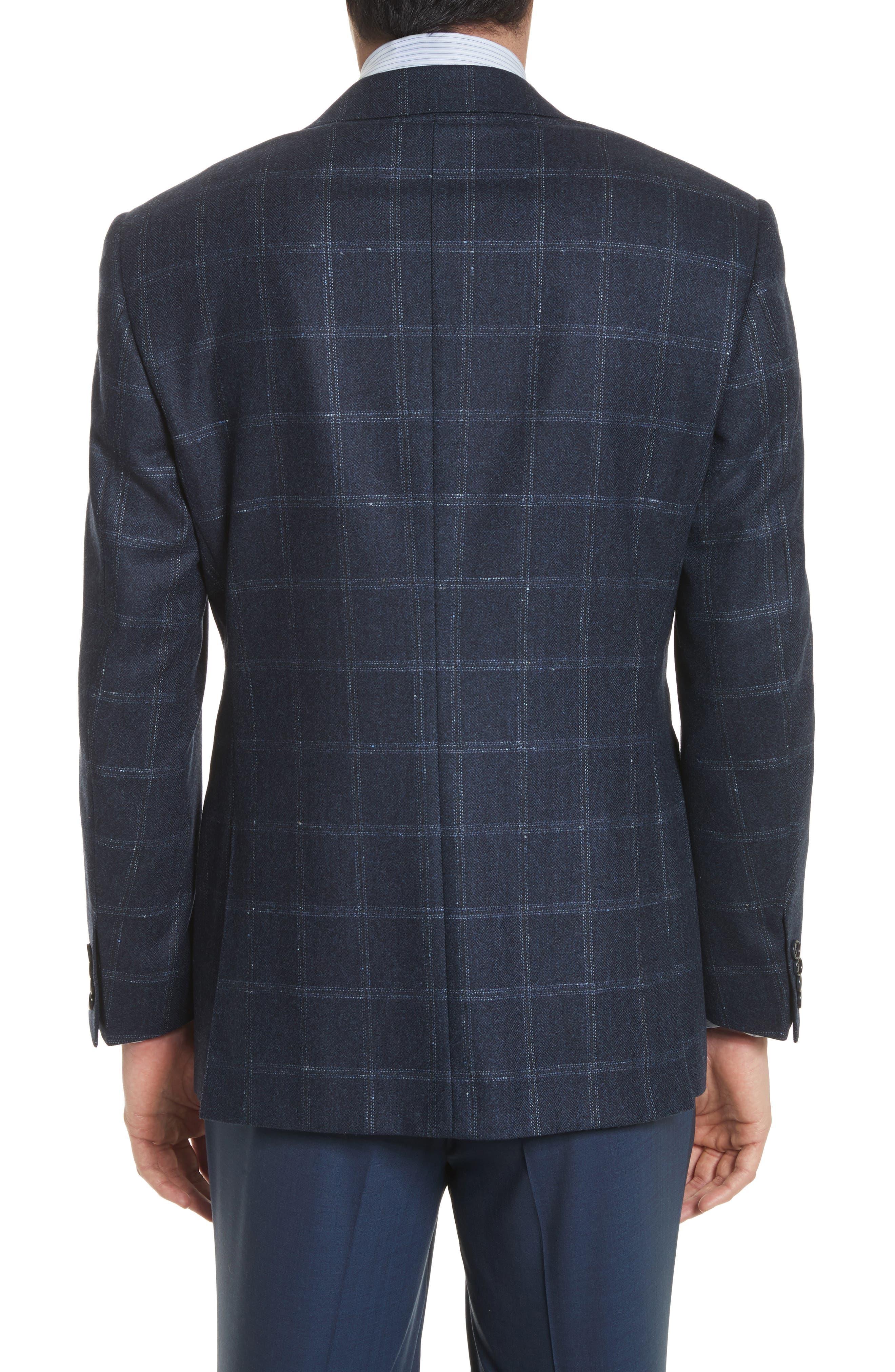 Alternate Image 2  - Canali Classic Fit Windowpane Wool & Cashmere Sport Coat