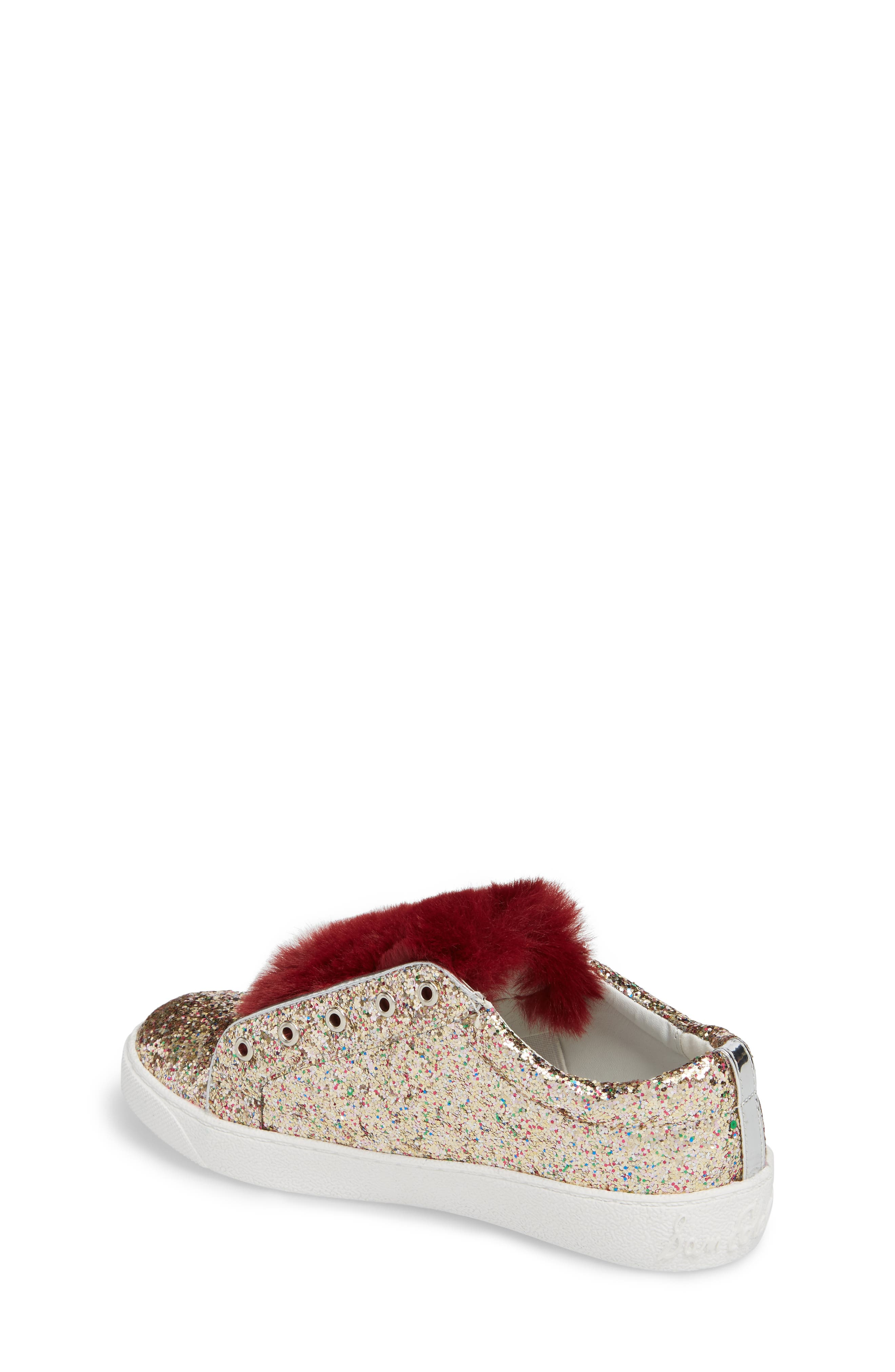 Alternate Image 2  - Sam Edelman Britt Rita Faux Fur Glitter Sneaker (Toddler, Little Kid & Big Kid)