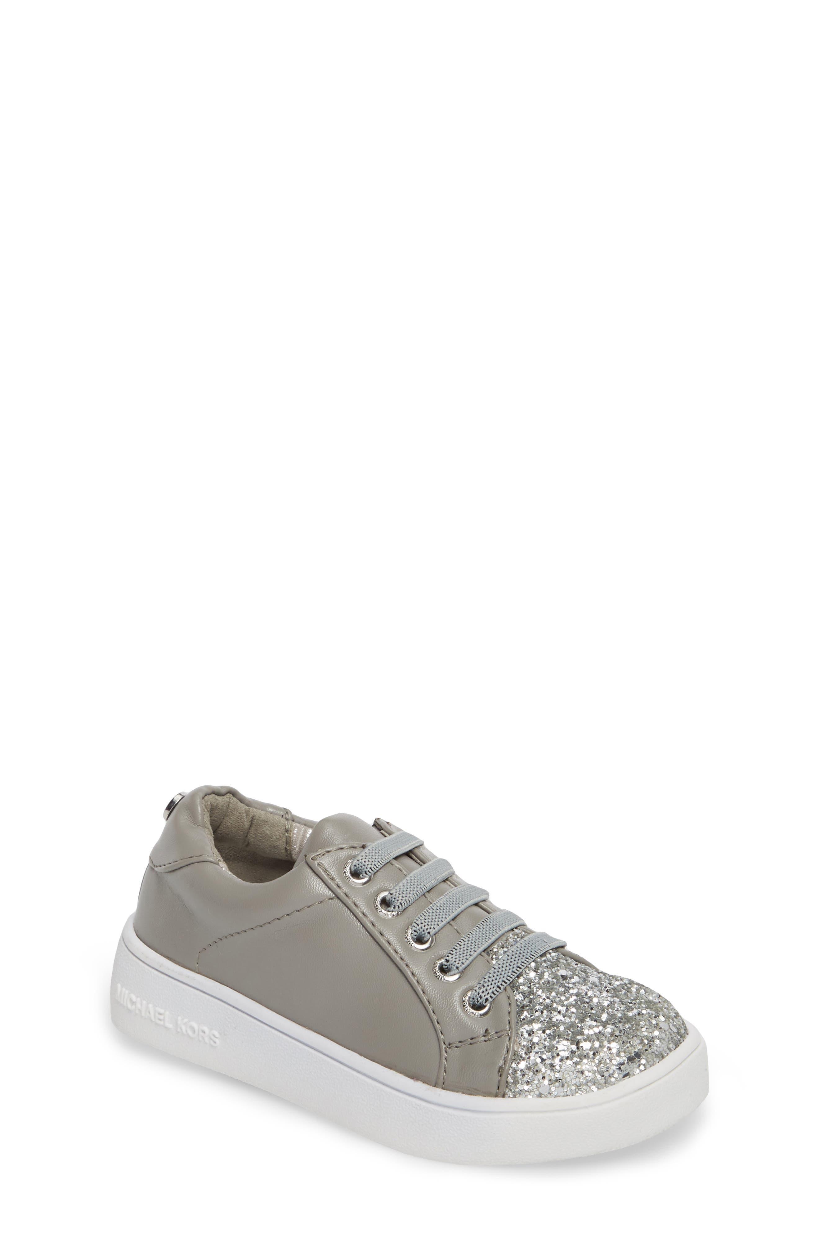 MICHAEL Michael Kors Ivy Luke Glitter Cap Toe Sneaker (Walker & Toddler)