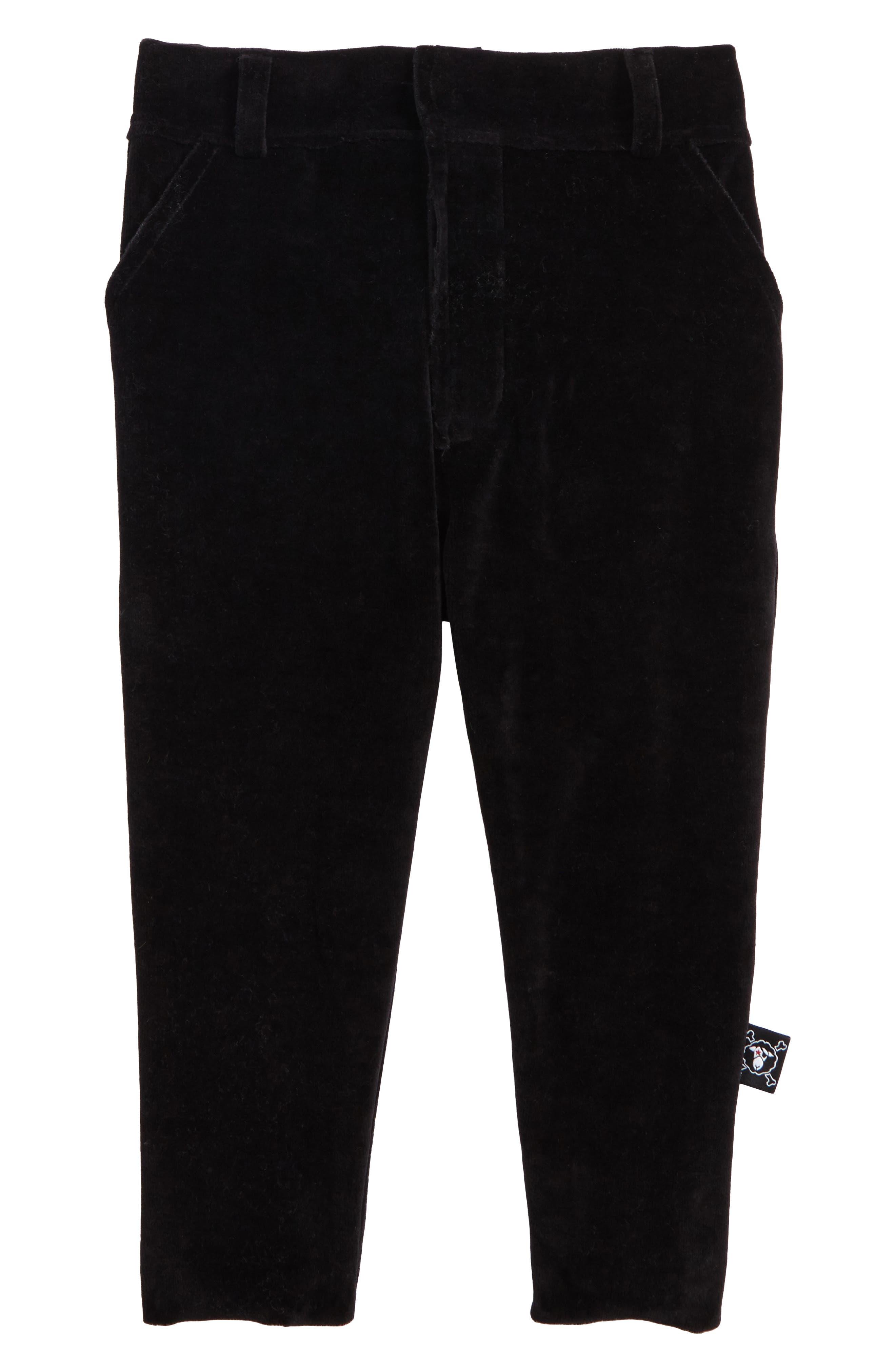 Velvet Pants,                         Main,                         color, Black