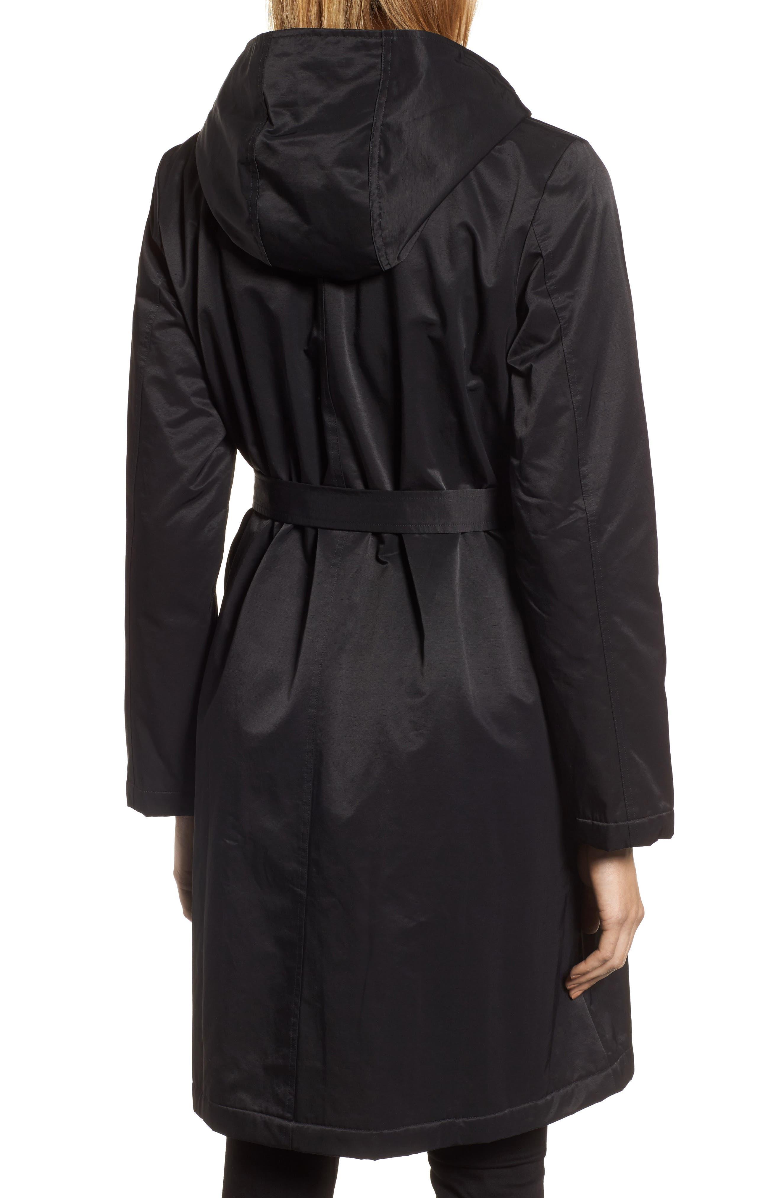 Alternate Image 2  - Eileen Fisher Fleece Lined Hooded Coat