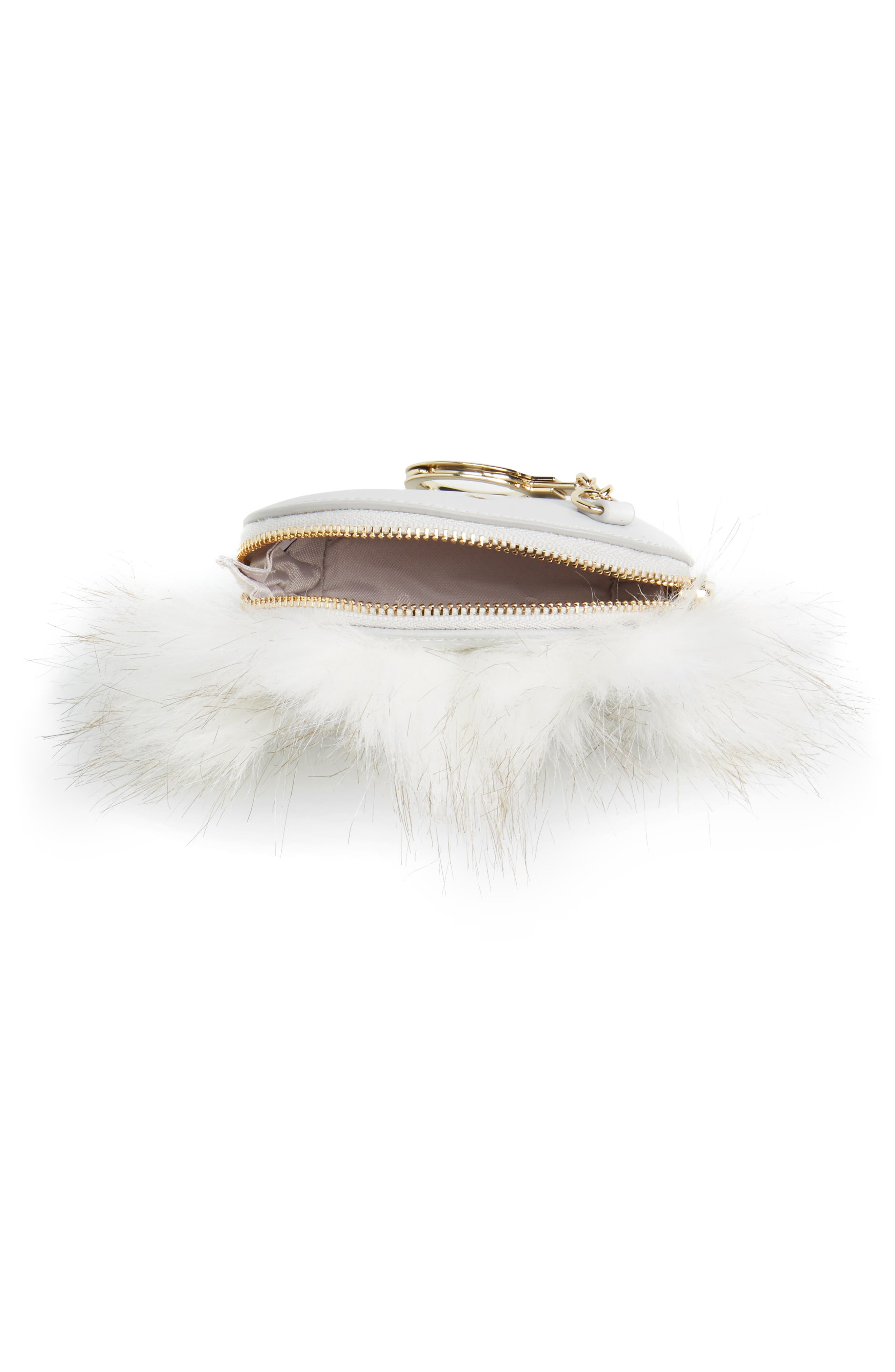 Alternate Image 3  - kate spade new york starbright owl faux fur & leather coin case/bag charm