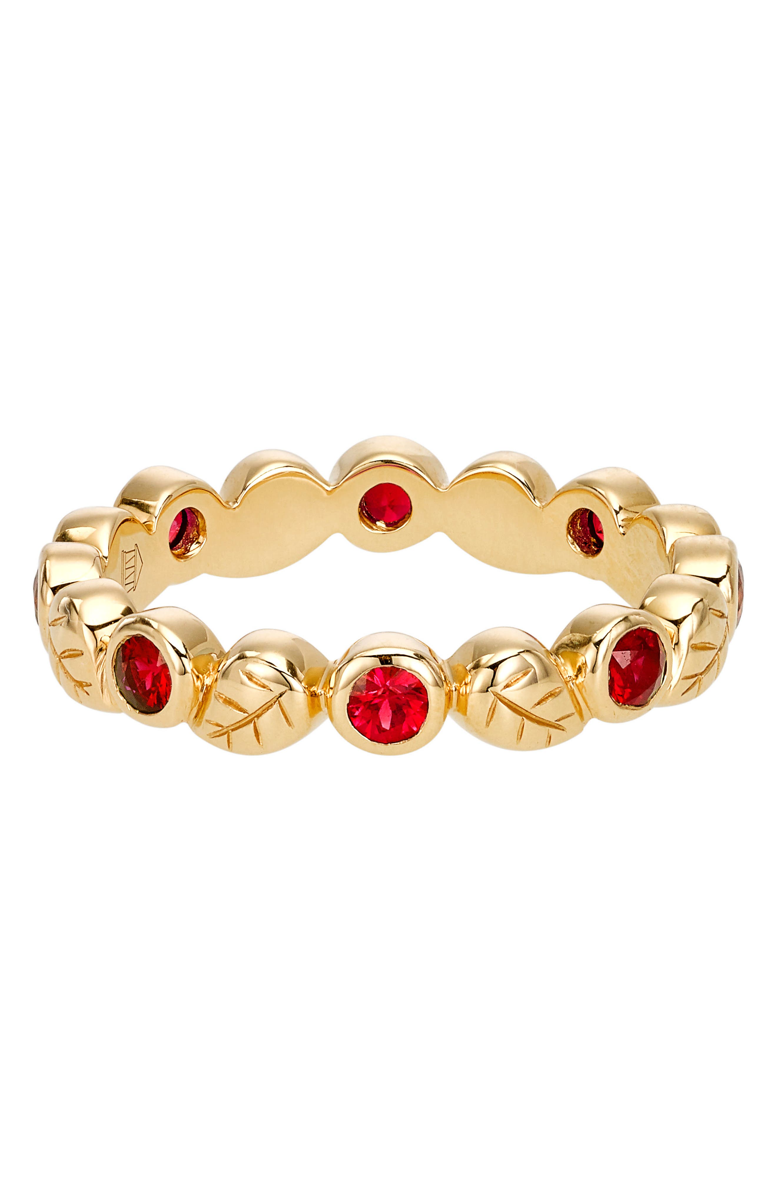 Temple St. Clair Objet Trouvé Arcadia Band Ring,                             Main thumbnail 1, color,                             Yellow Gold/ Ruby