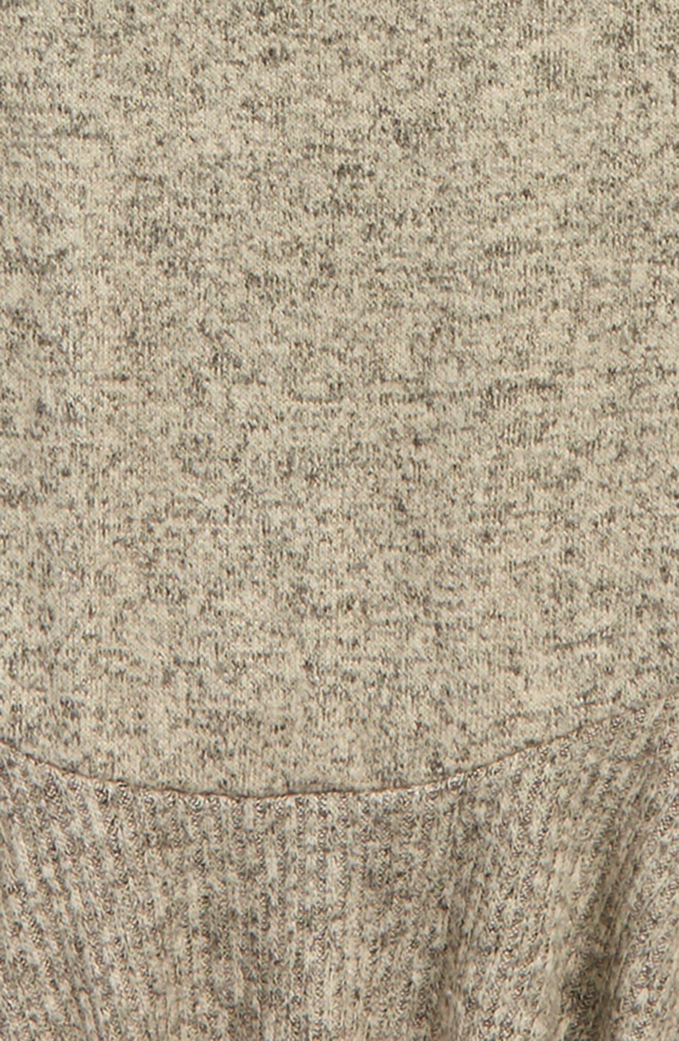 Fleece Peplum Top,                             Alternate thumbnail 2, color,                             Taupe