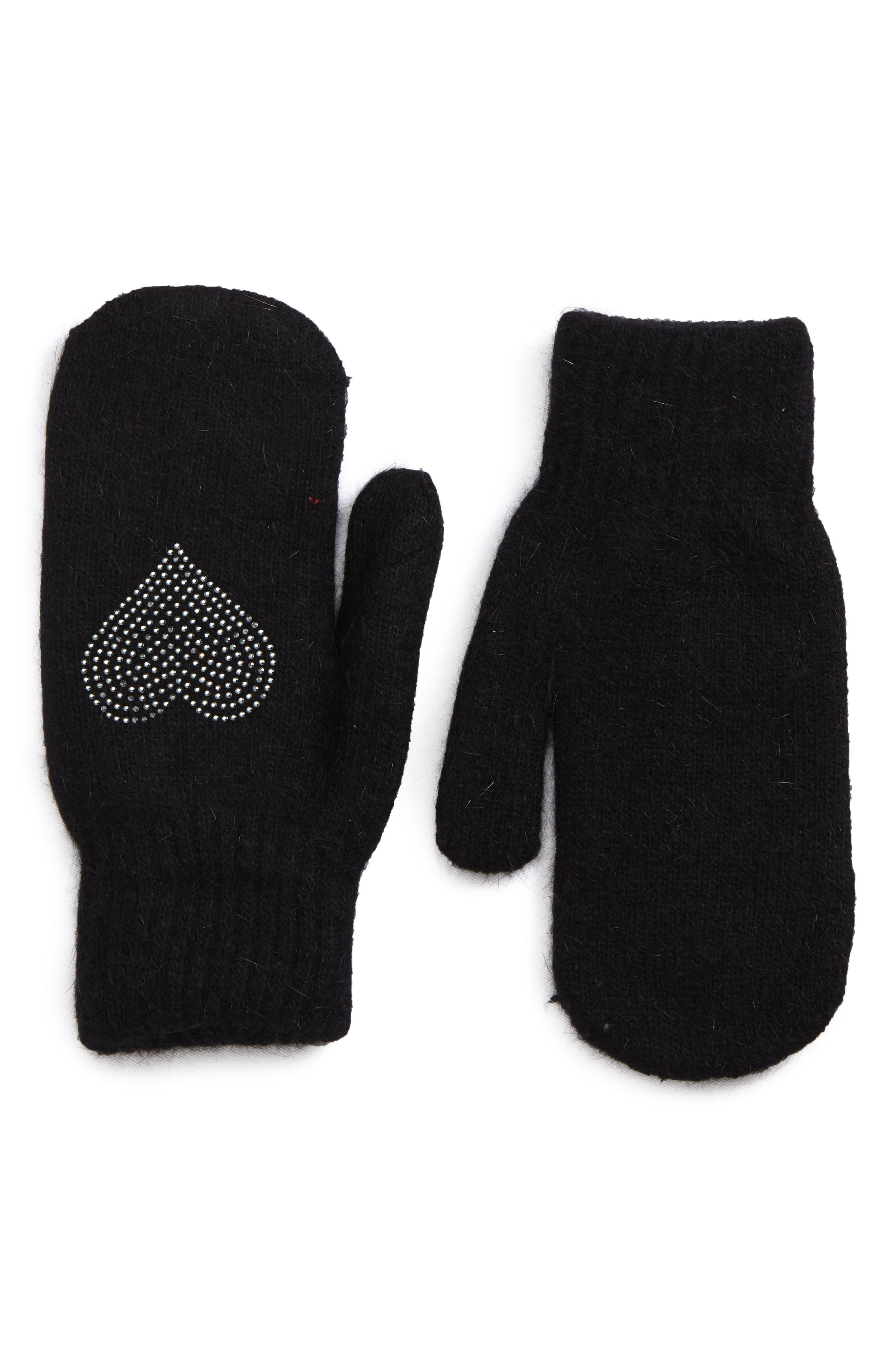 David & Young Sequin Heart Mittens