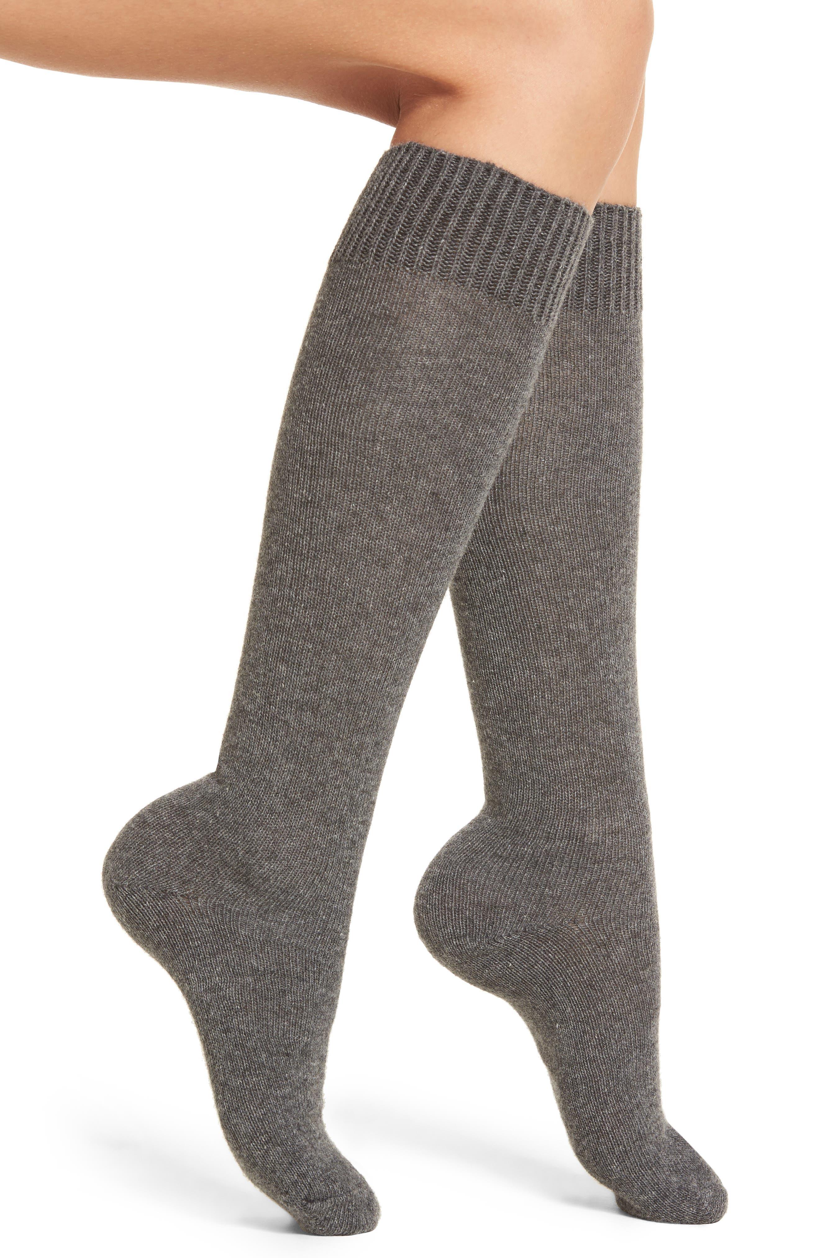Knee High Socks,                         Main,                         color, Charcoal