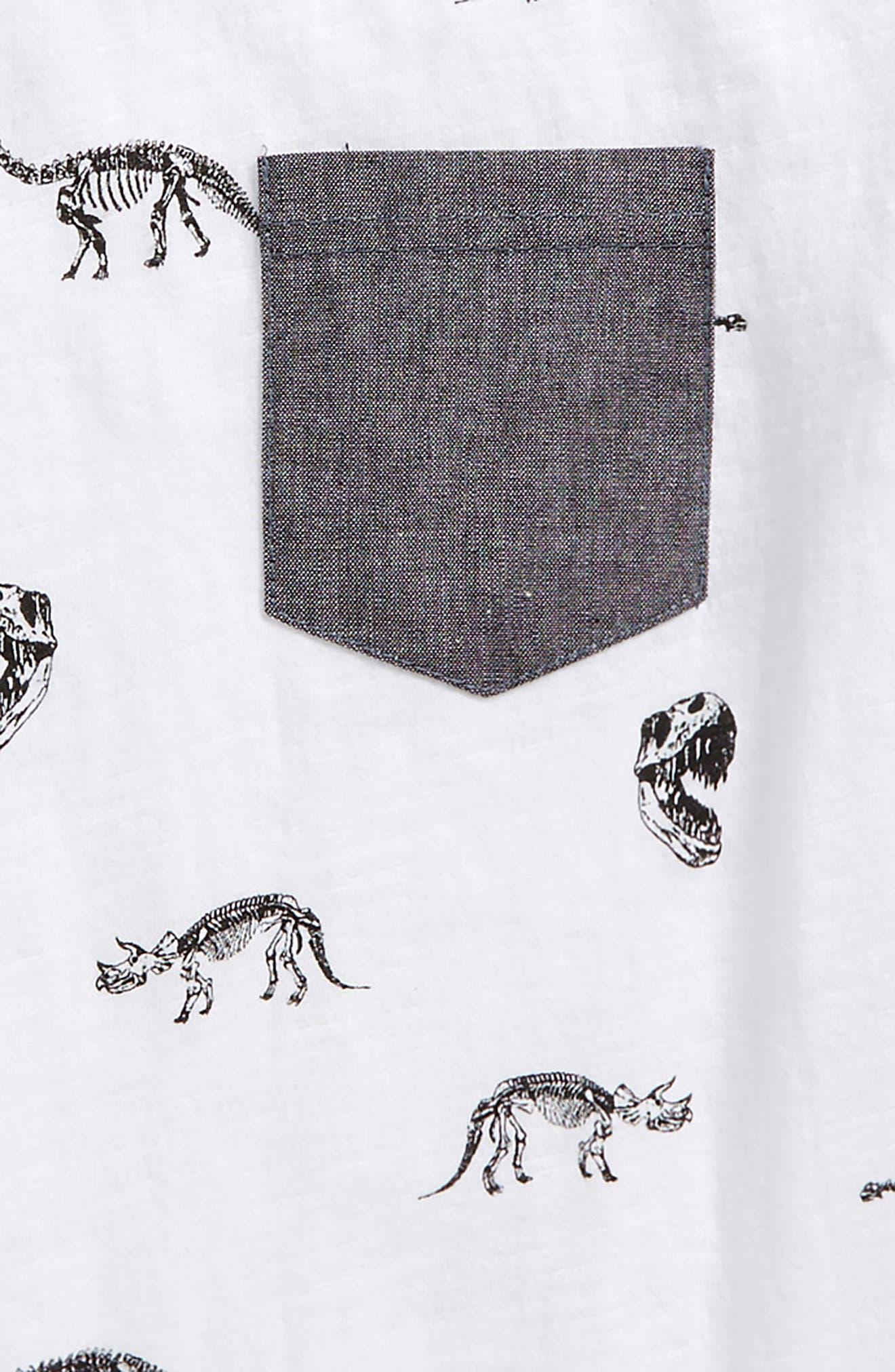 Historic Print T-Shirt,                             Alternate thumbnail 2, color,                             White