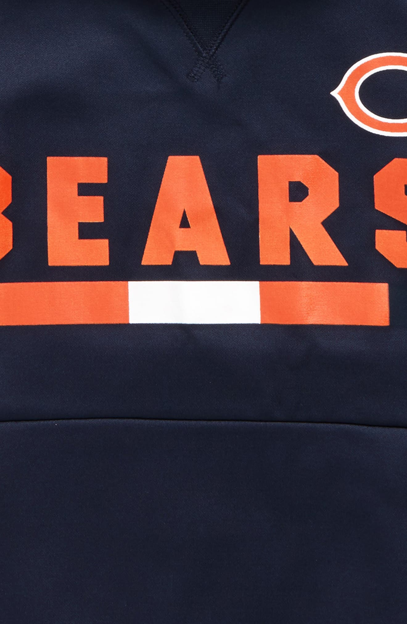 Nike Therma Chicago Bears Hoodie,                             Alternate thumbnail 2, color,                             Marine