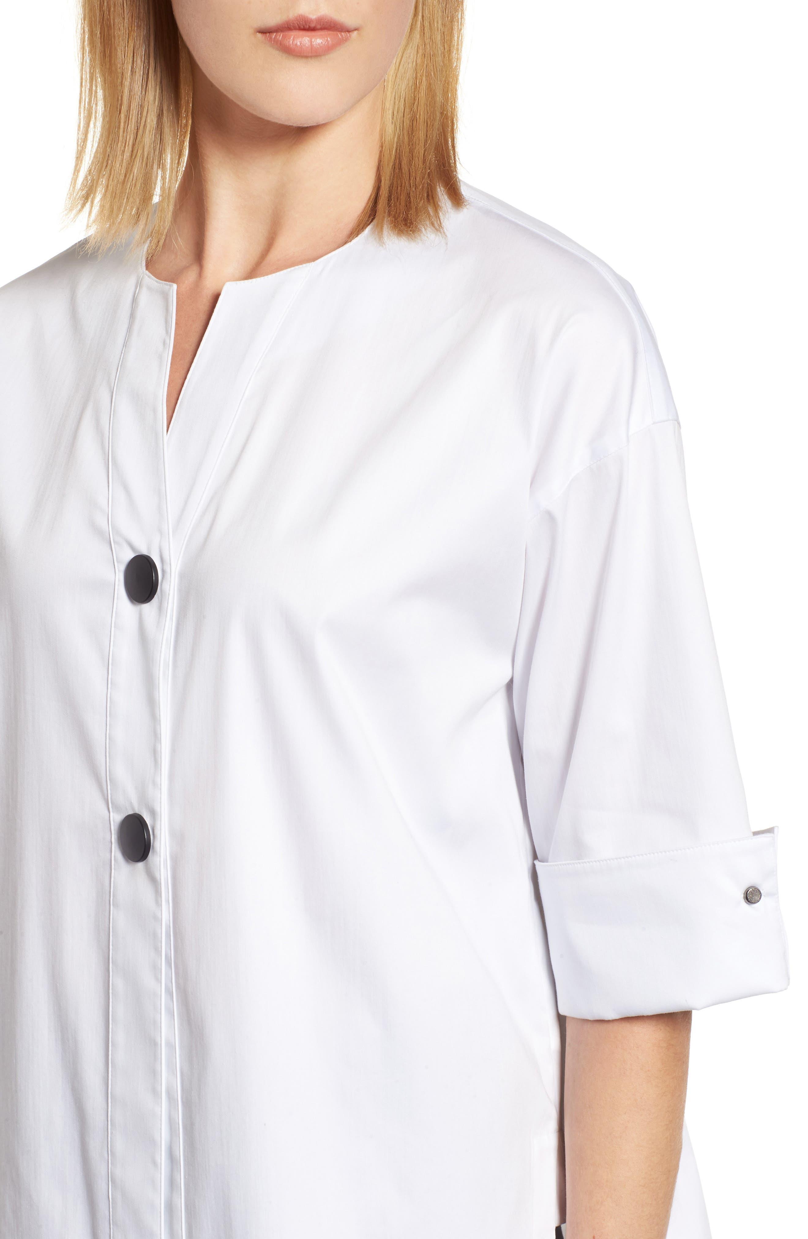 Woven Shirt Jacket,                             Alternate thumbnail 4, color,                             White