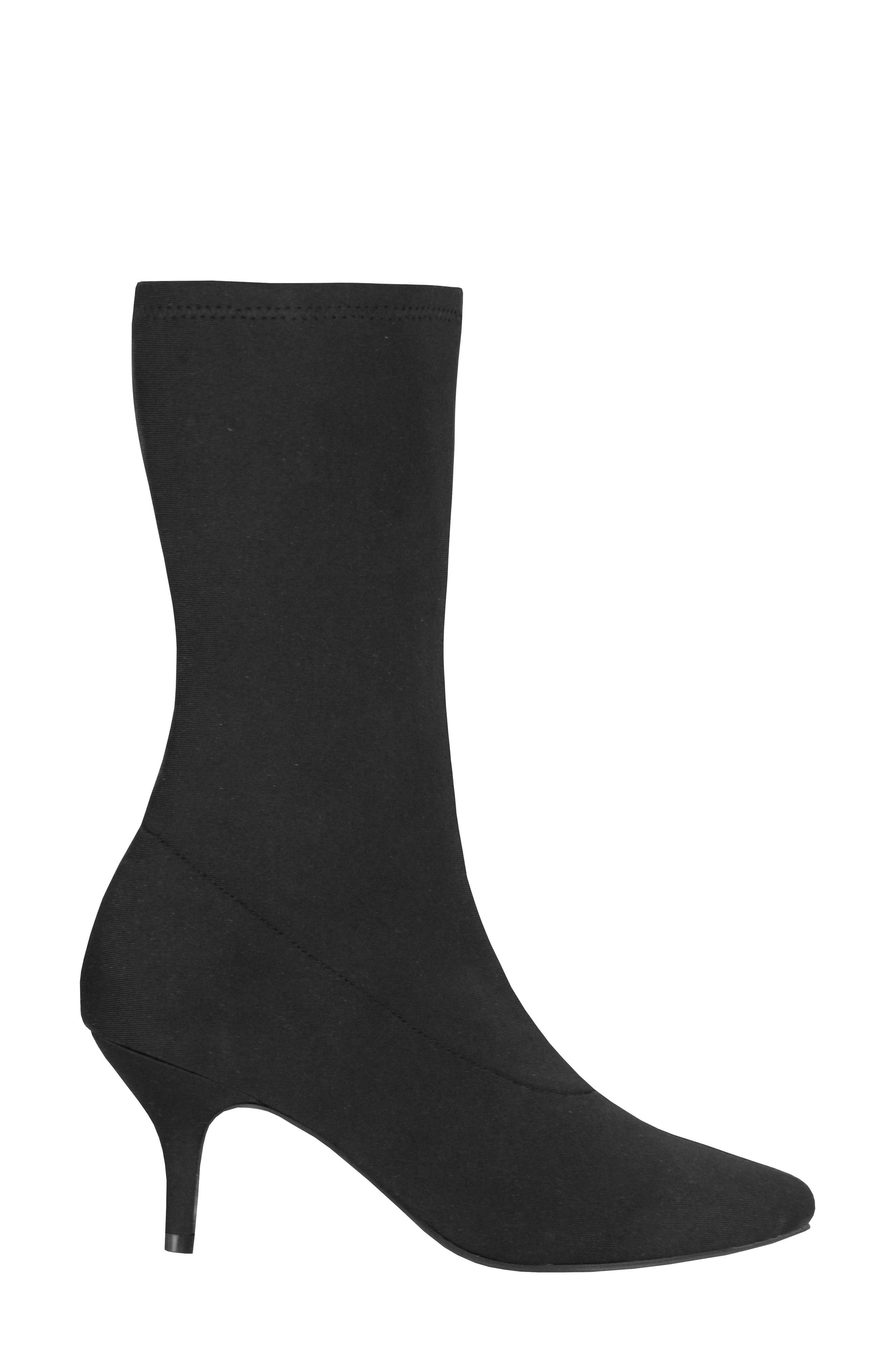 Camilla Sock Boot,                             Alternate thumbnail 3, color,                             Black