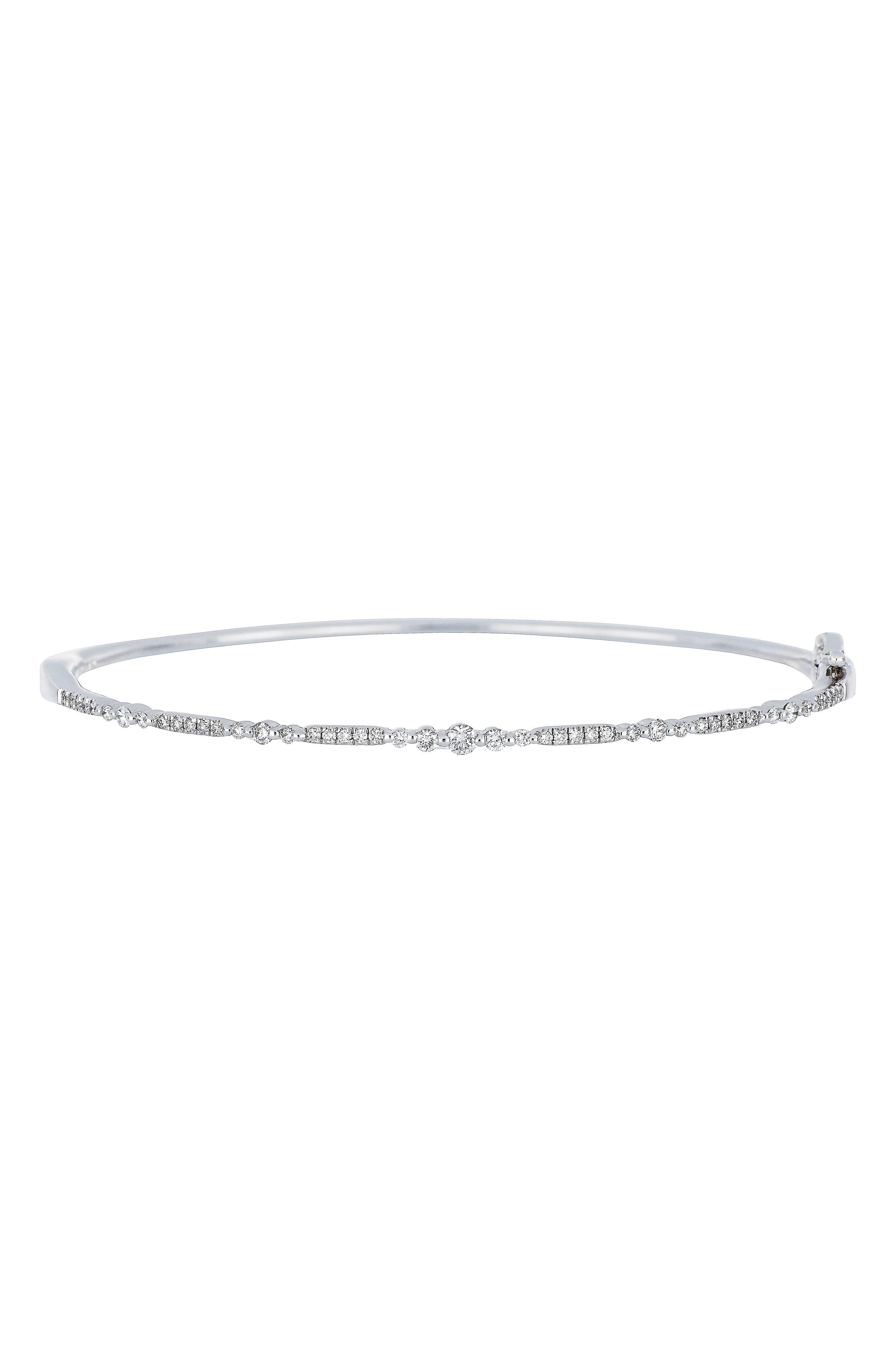 Diamond Bangle,                         Main,                         color, White Gold