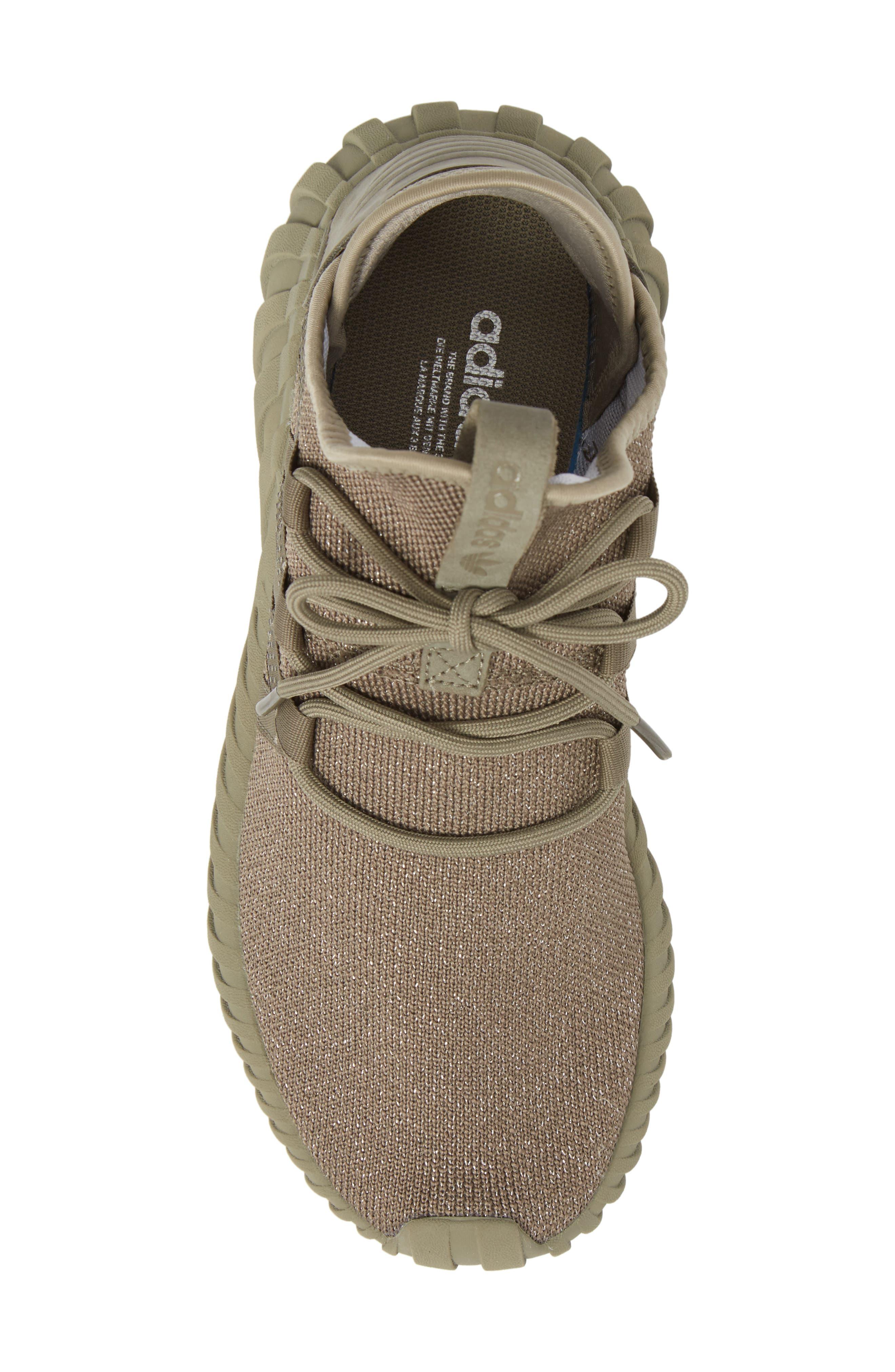 Tubular Dawn Primeknit Sneaker,                             Alternate thumbnail 5, color,                             Trace Cargo