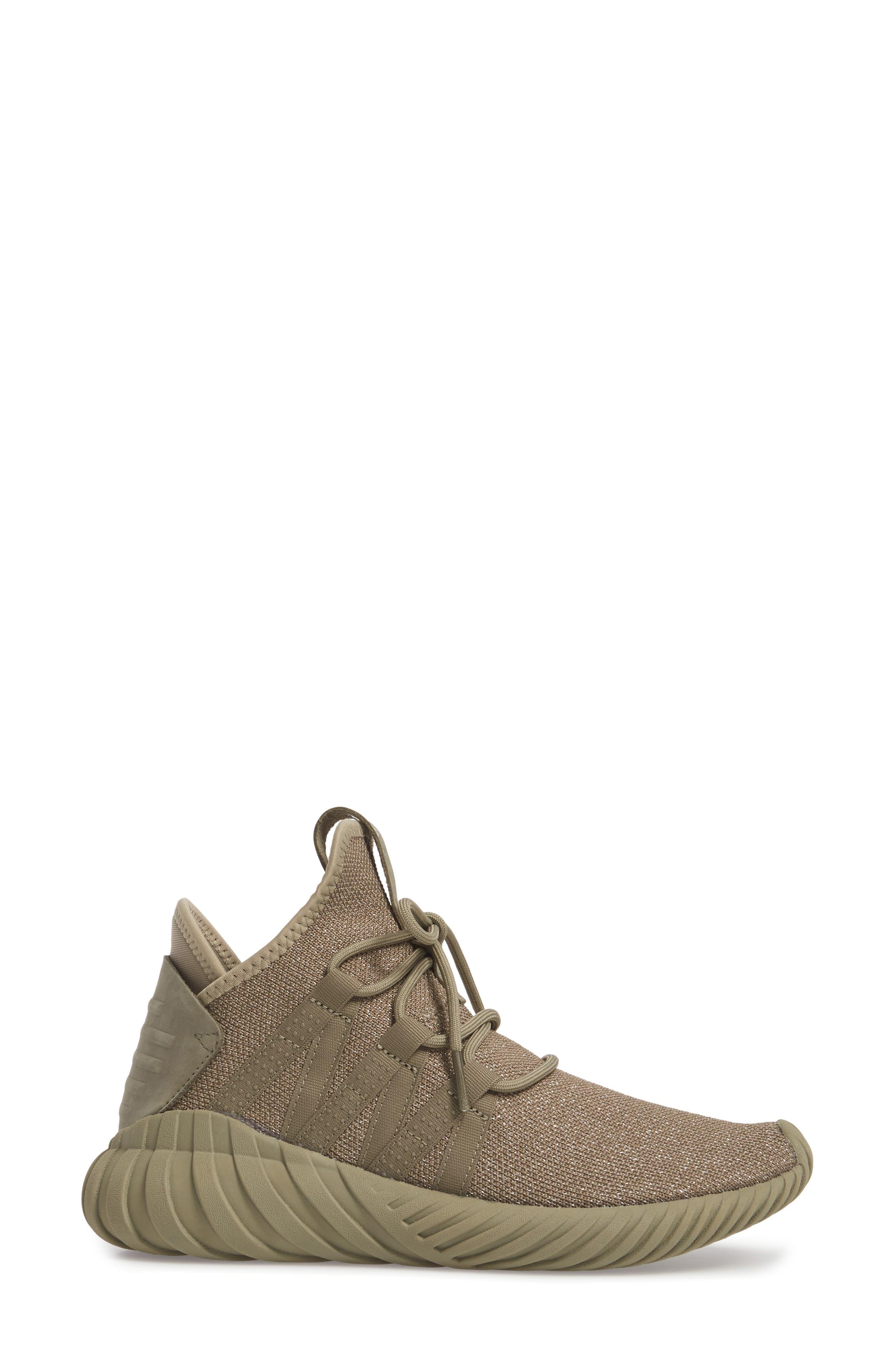 Tubular Dawn Primeknit Sneaker,                             Alternate thumbnail 3, color,                             Trace Cargo