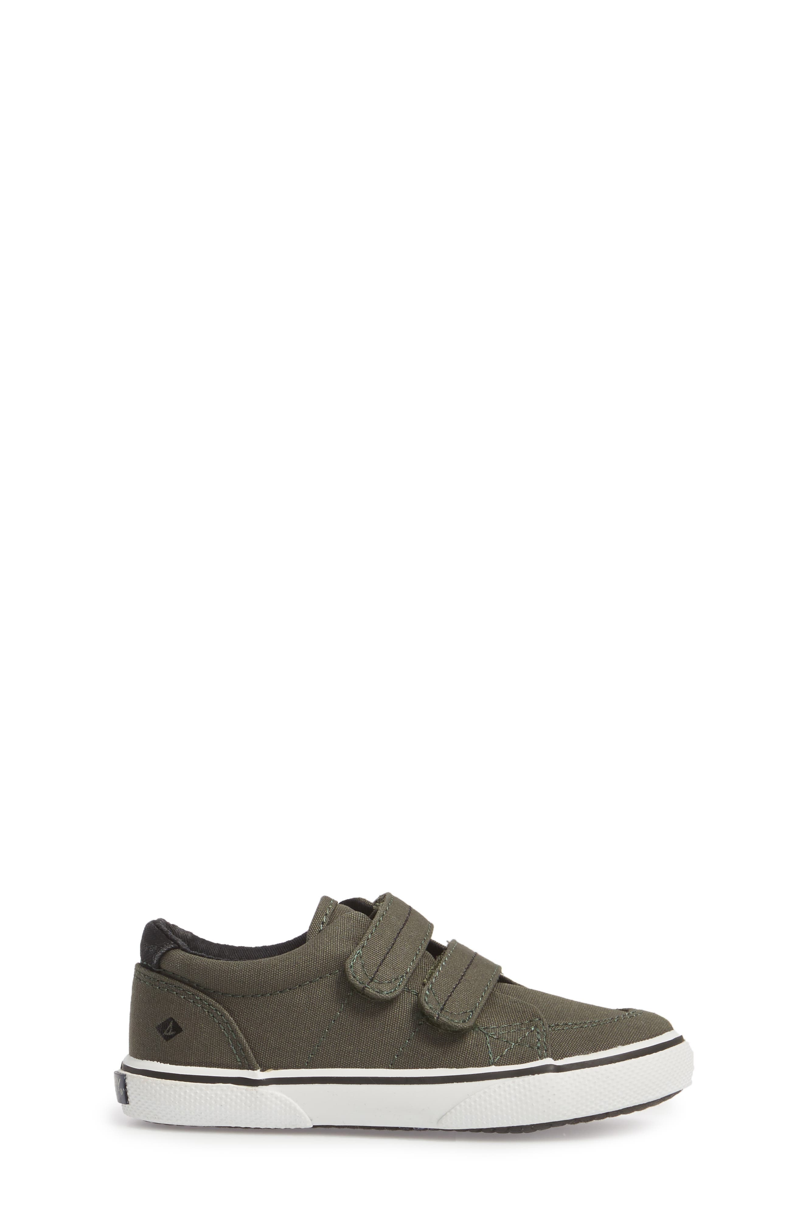 Sperry Top-Sider<sup>®</sup> Kids 'Halyard' Sneaker,                             Alternate thumbnail 3, color,                             Olive