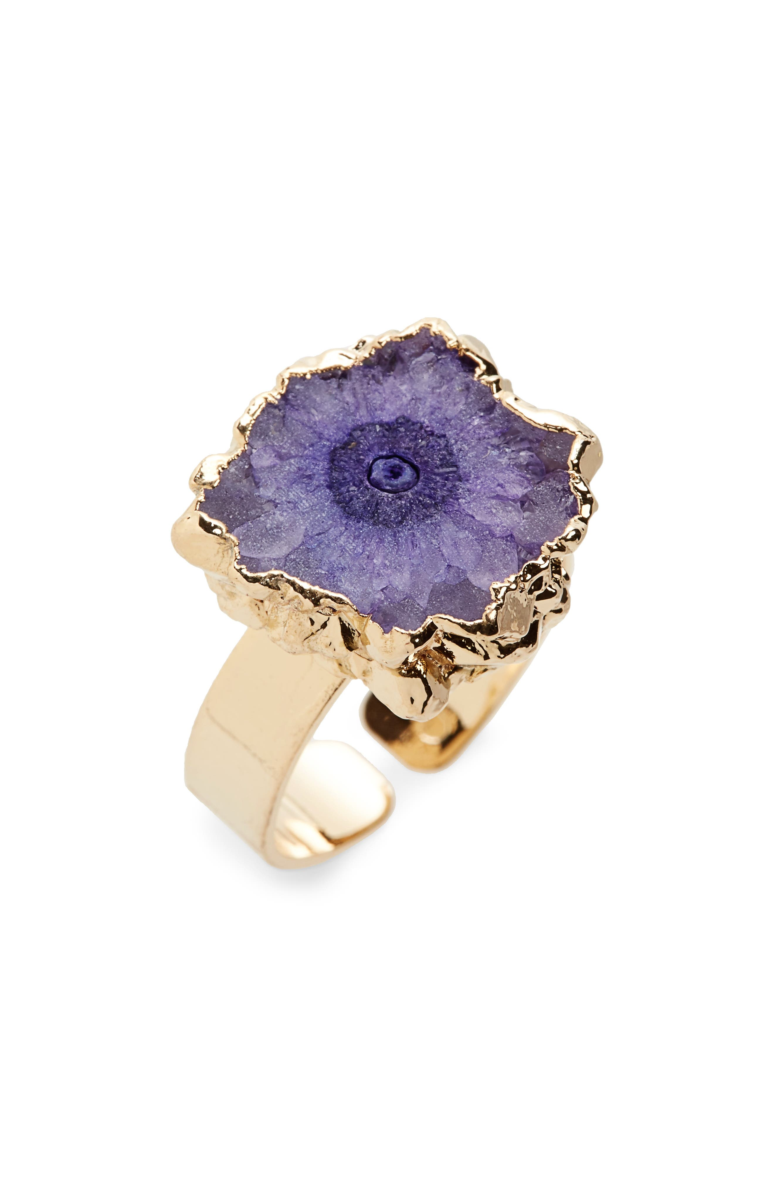 Agate Ring,                             Main thumbnail 1, color,                             Purple
