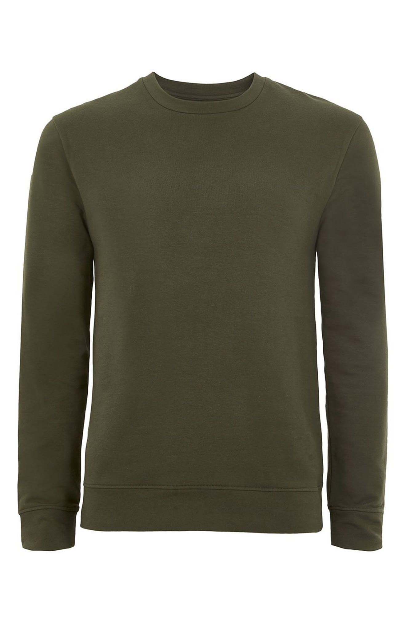 Ultra Muscle Fit Sweatshirt,                             Alternate thumbnail 4, color,                             Olive