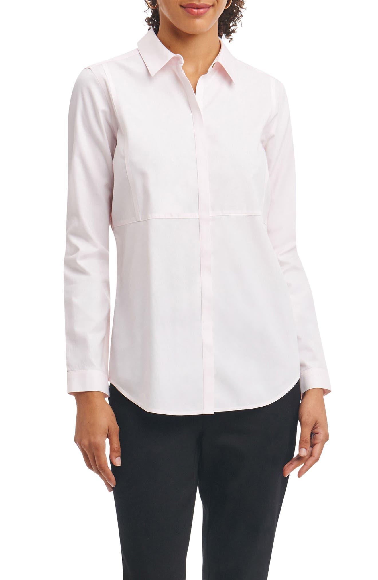 Non-Iron Shirt,                         Main,                         color, Blush