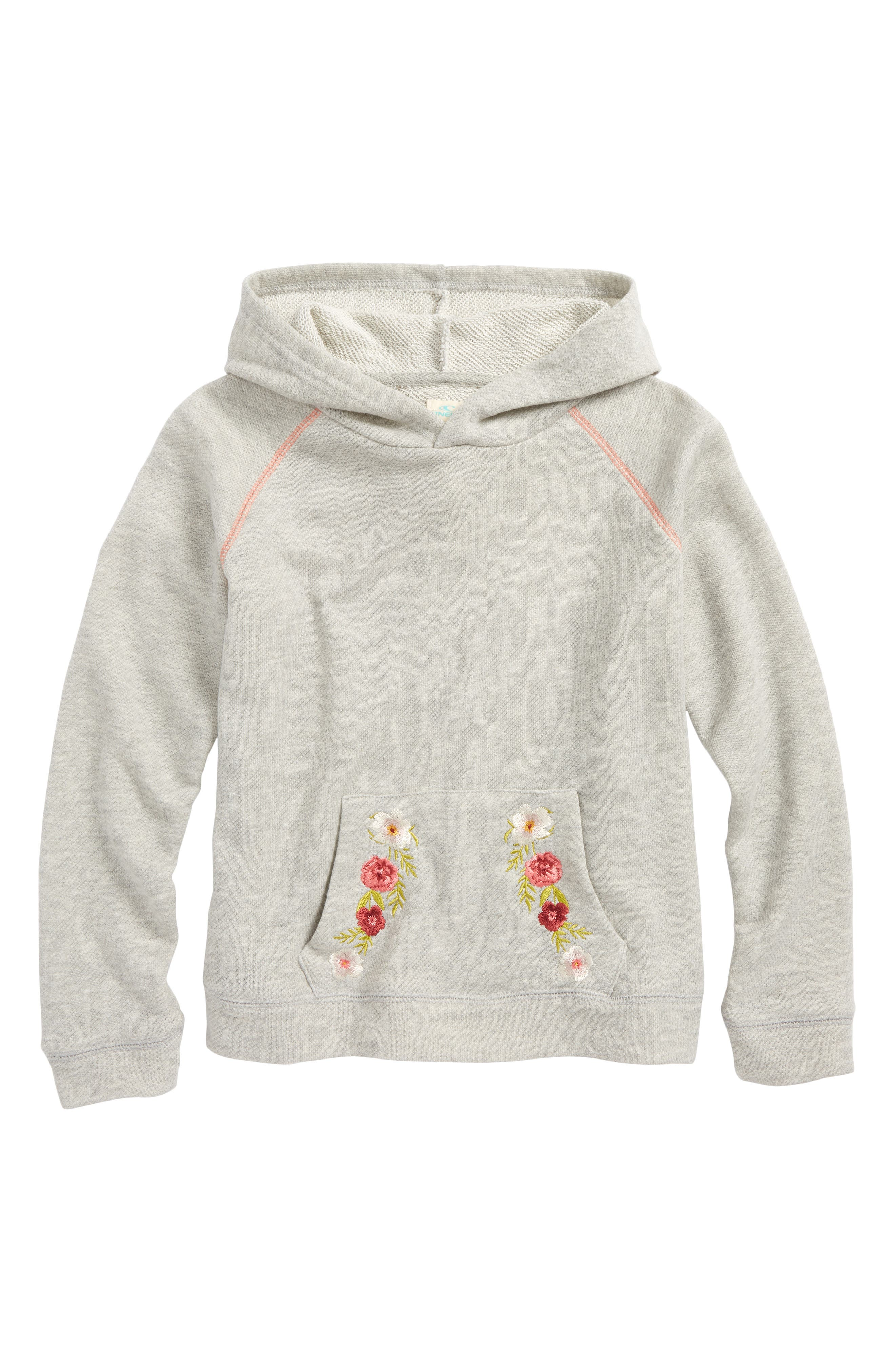 Brianna Pullover Hoodie,                             Main thumbnail 1, color,                             Heather Grey