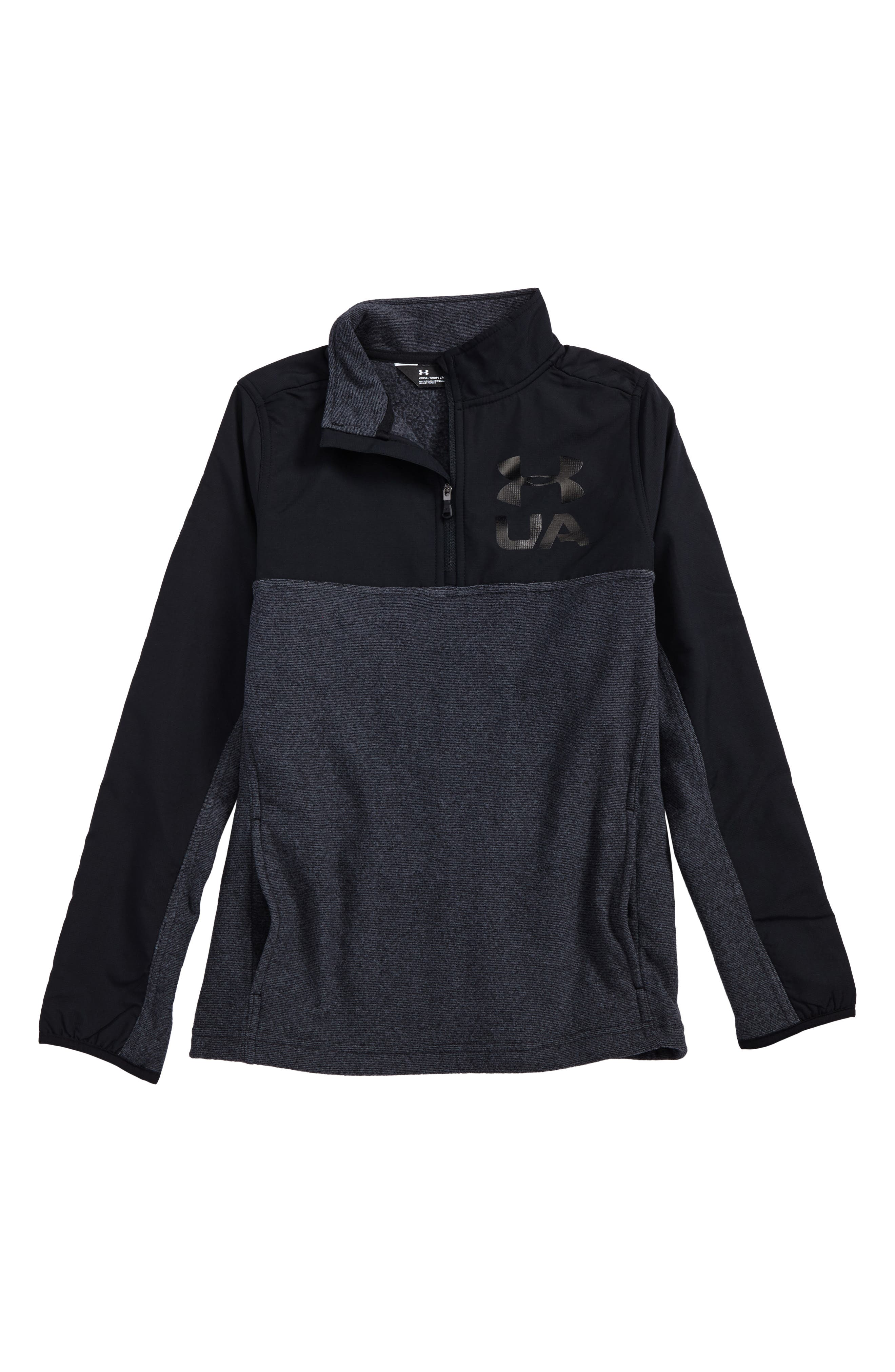under armour quarter zip. main image - under armour phenom coldgear® quarter zip pullover (big boys)